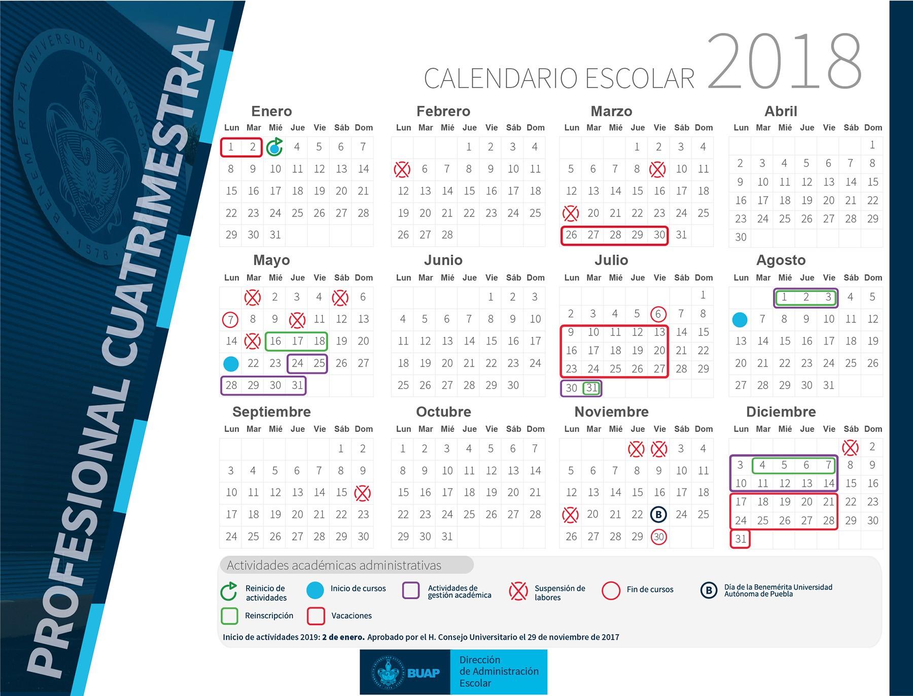 Calendario Escolar Zaragoza 2018 Y 2019 Actual Calendario Escolar 2018 Benemérita Universidad Aut³noma De Puebla Of Calendario Escolar Zaragoza 2018 Y 2019 Más Reciente Calendario Escolar – Ies Emilio Jimeno
