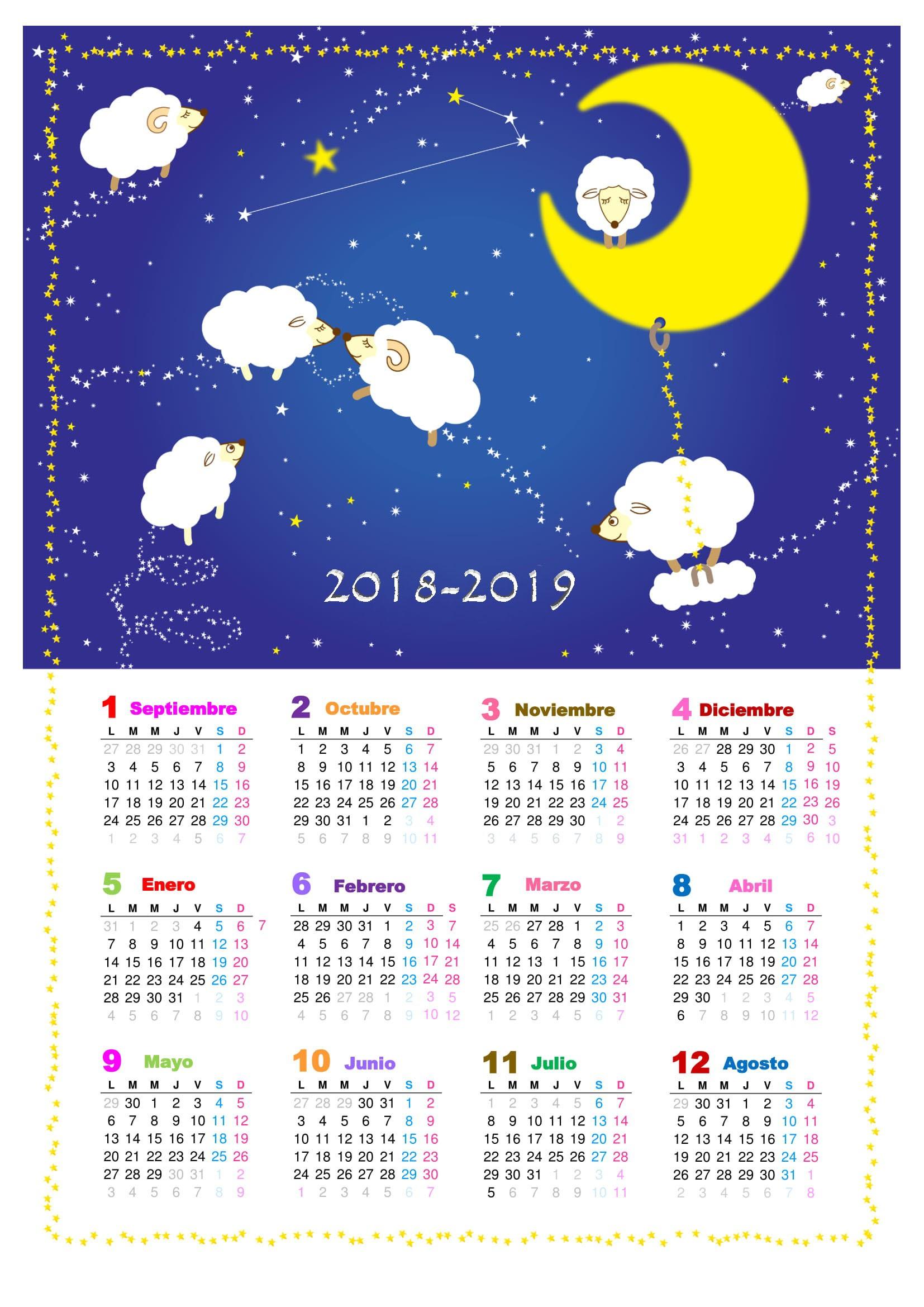 calendario escolar 2018 2019 tuexperto