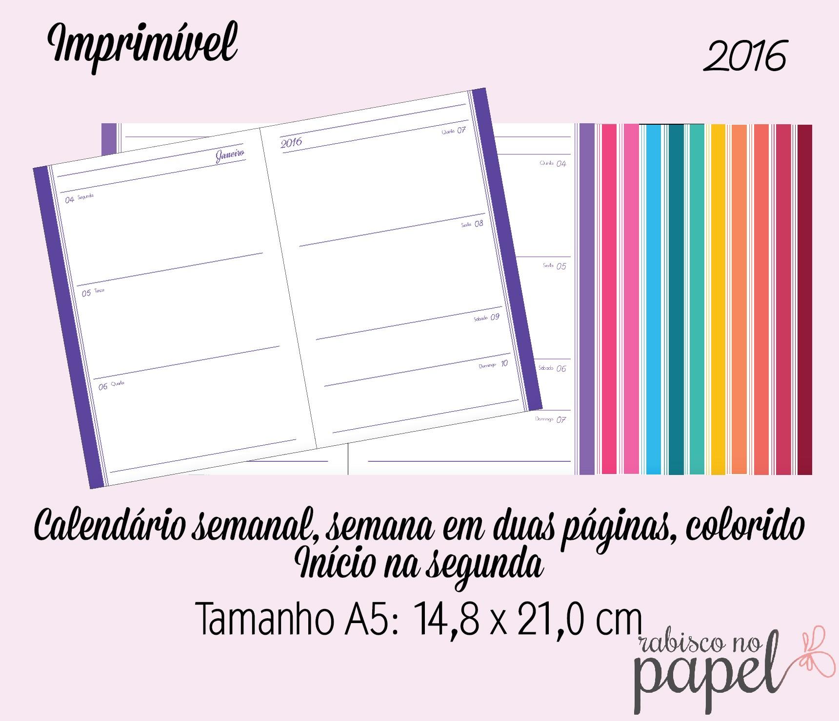 imprimivel agenda semanal 201 a5 sem pauta