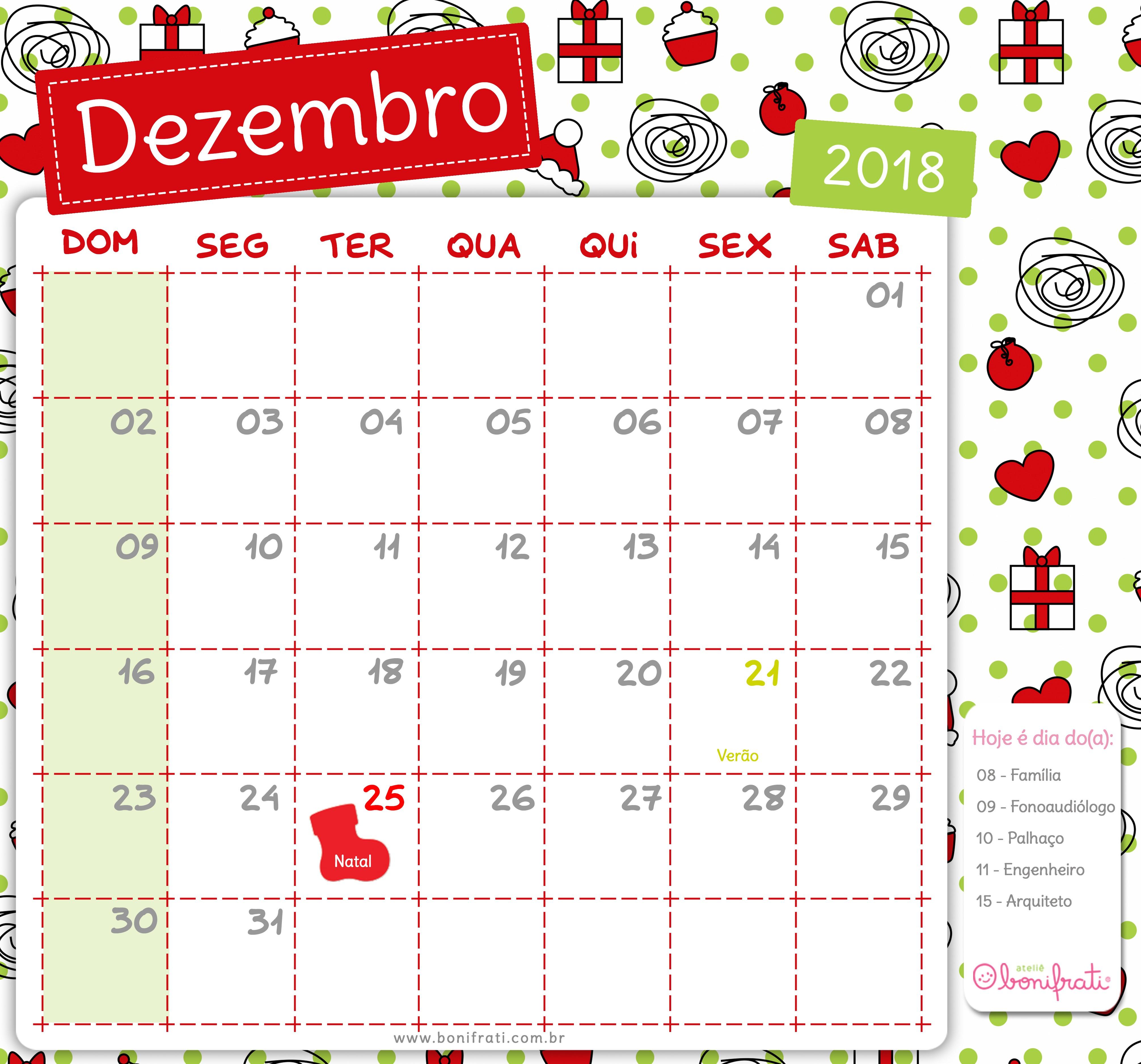 Calendario Imprimir Dezembro 2017 Más Recientemente Liberado Pin by Luciana Peixoto On Escola Pinterest