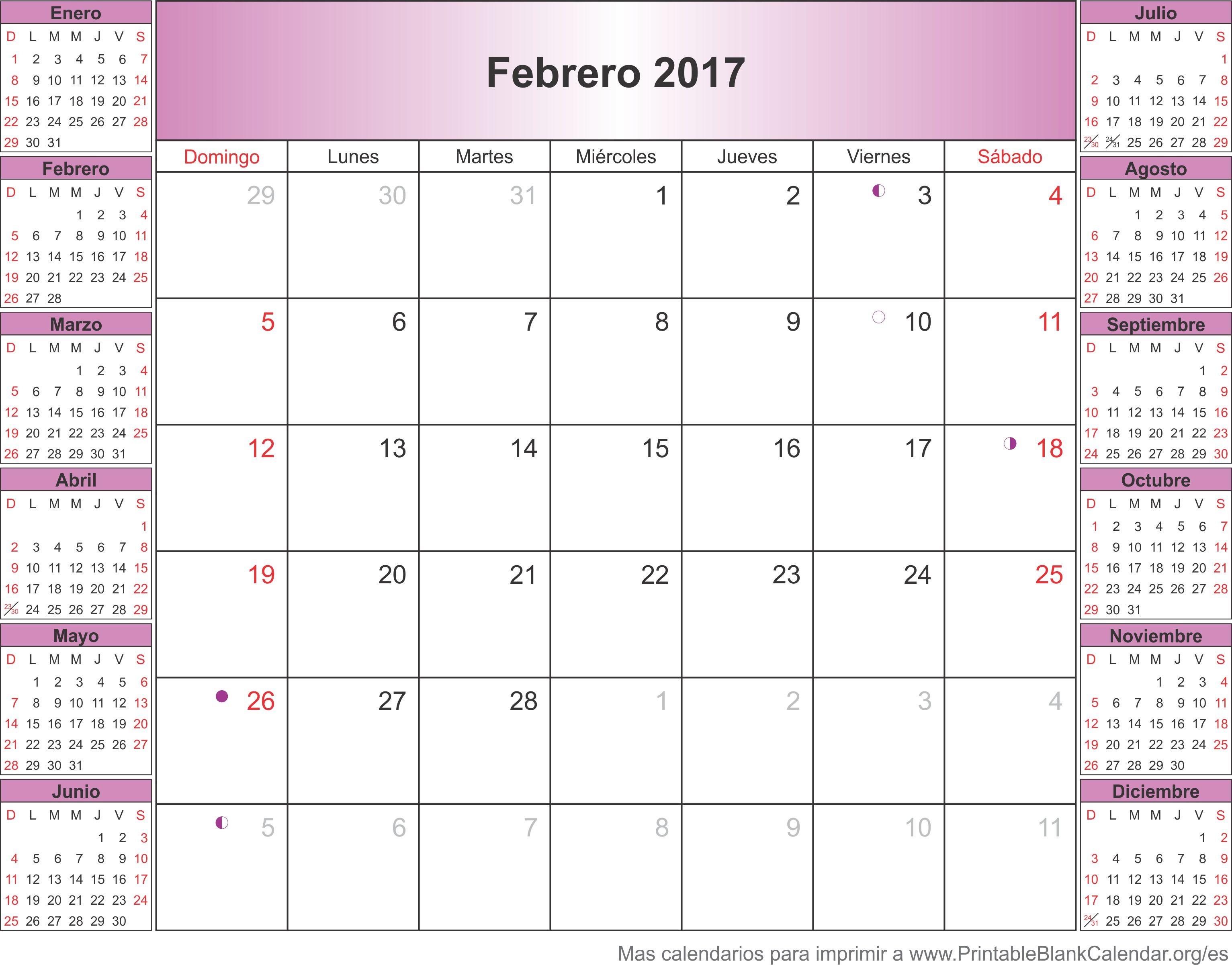 Calendario Imprimir Julio 2017 Más Caliente Febrero 2017 Calendario Calendarios Para Imprimir Of Calendario Imprimir Julio 2017 Actual Calendario 2017
