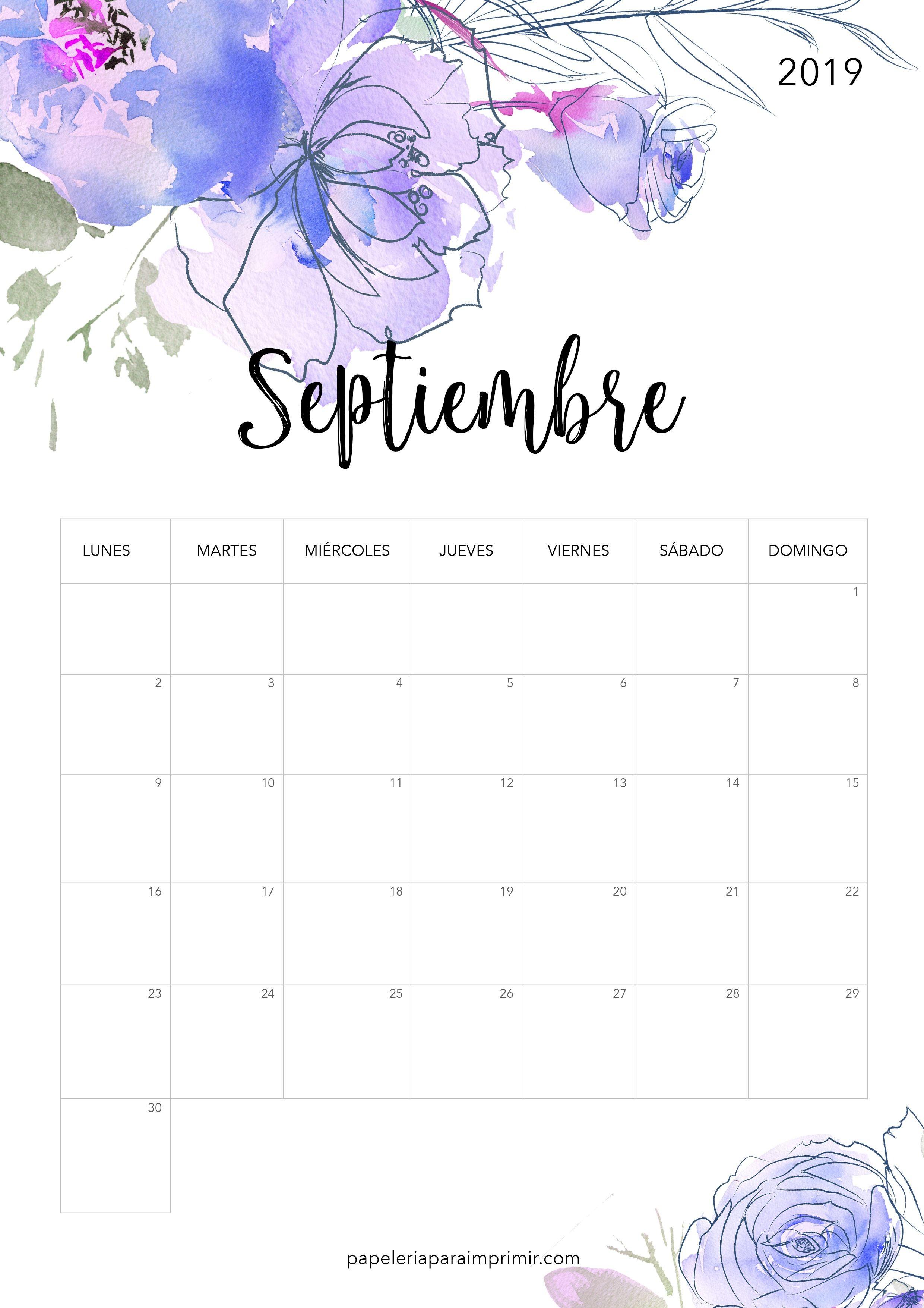 Calendario Imprimir Mejores Y Más Novedosos Calendario Para Imprimir 2019 Septiembre Calendario Imprimir