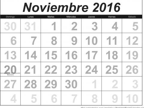 Calendario Imprimir Noviembre 2016 Más Populares Calendario Nov 2016 Calendarios Para Imprimir