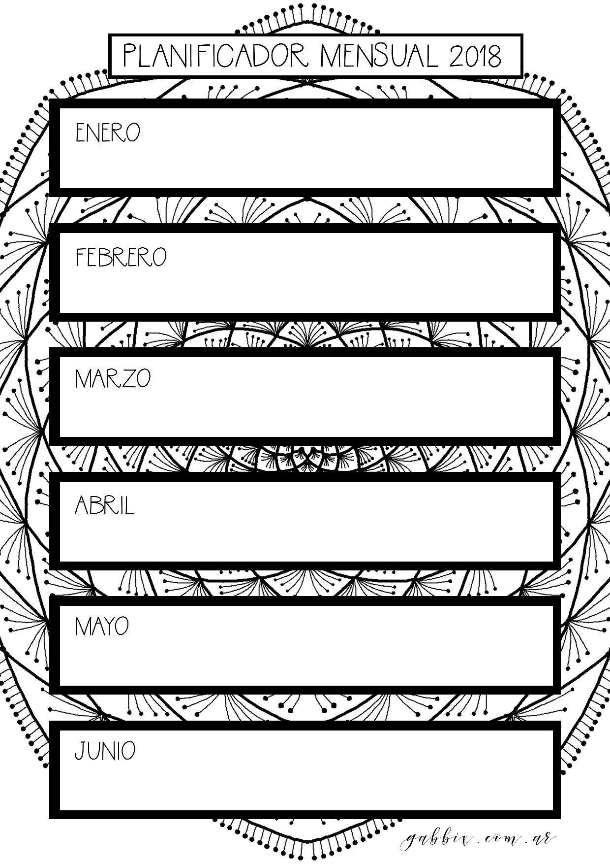 šLTIMOS DAS agenda 2018 gratis con mandalas para colorear y journaling Bullet journal Gratitud journal Planificador mensual diario y semanal