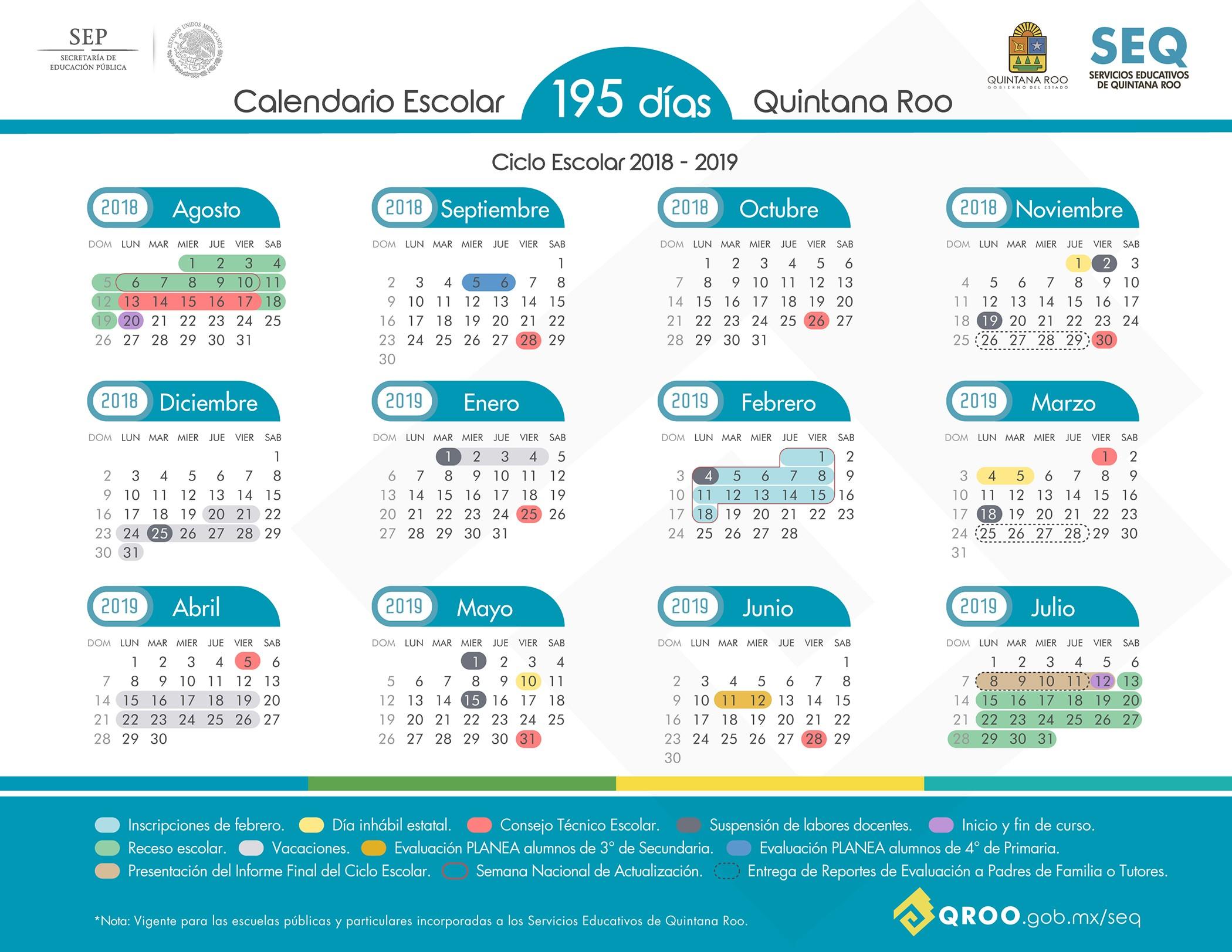 Calendario Imprimir Semanas Más Actual Calendario Escolar 2018 2019 Of Calendario Imprimir Semanas Más Reciente Calendario Académico