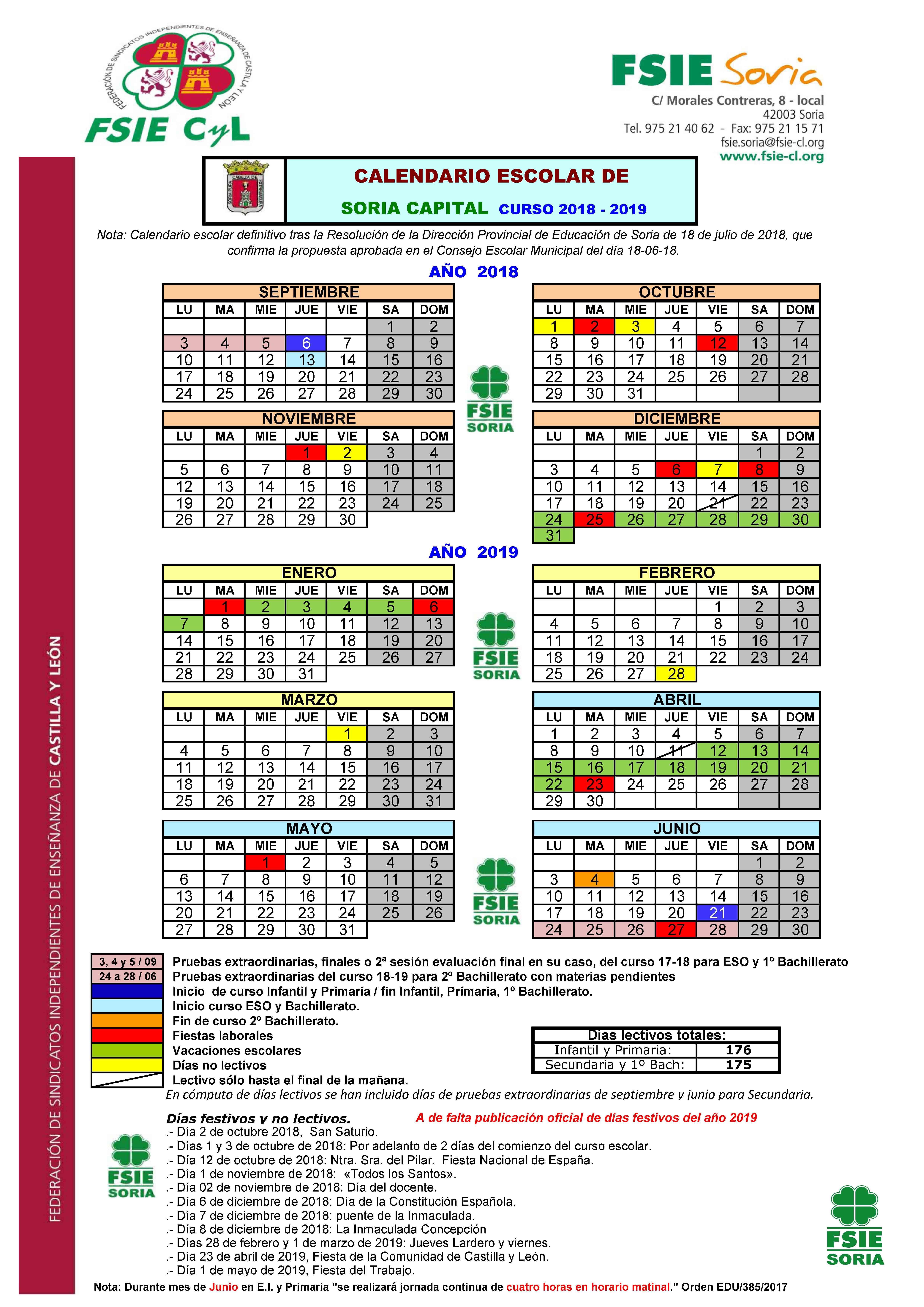 """Calendario Laboral Escolar 2019 Más Actual Fsie Castilla Y Le³n Confirmada La Propuesta De Modificaci""""n De Of Calendario Laboral Escolar 2019 Más Recientes ▷ 📆 Calendario Febrero 2019 Calendario 2019"""