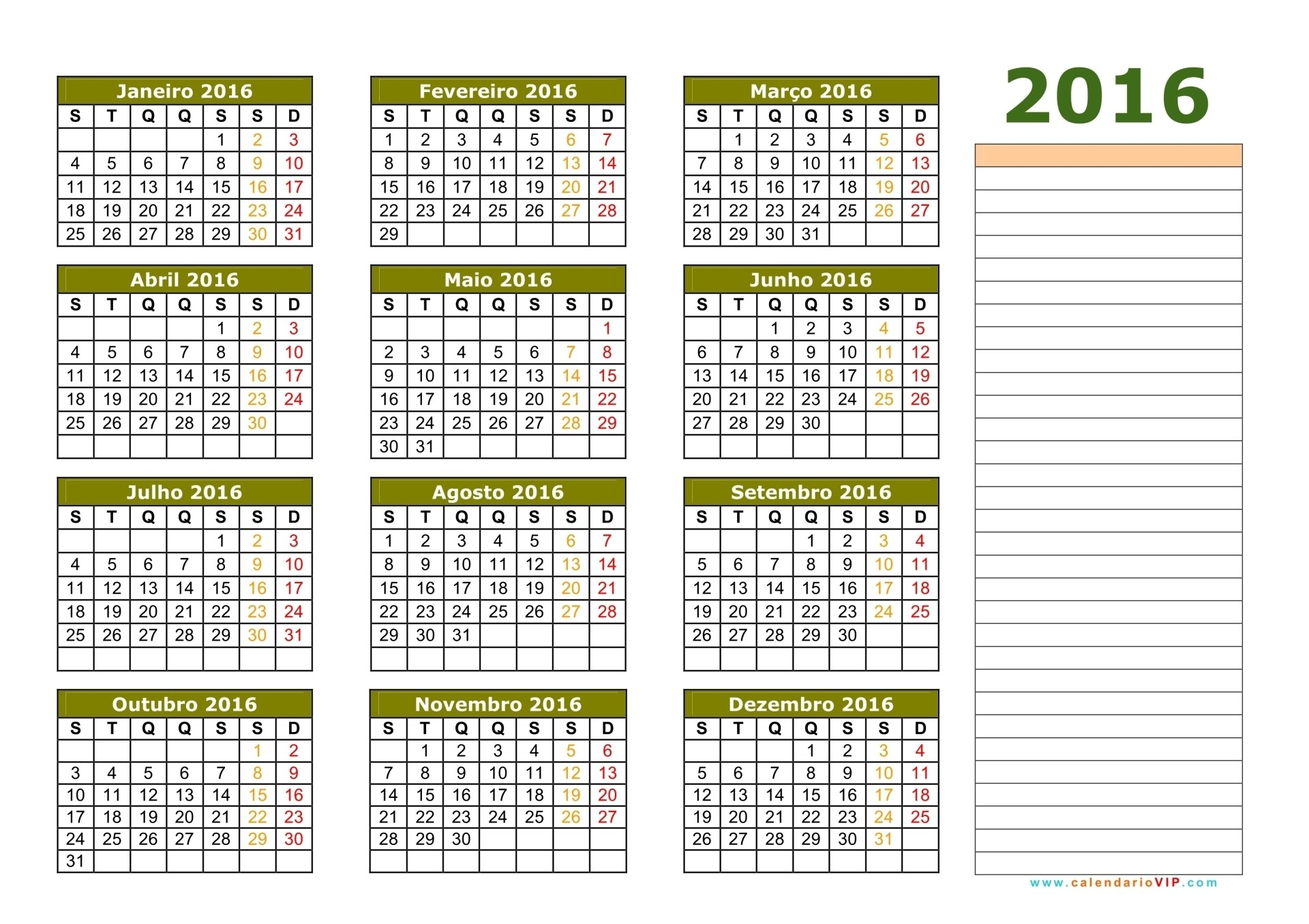 Calend rio 2016 calendarios 2016 para imprimir for Calendario lunar 2016 colombia
