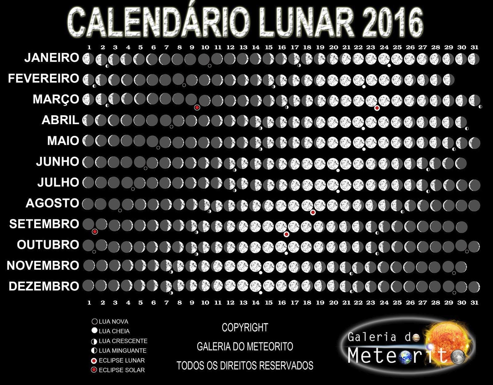 Calend rio lunar galeria do meteorito for Calendario lunar 2016 colombia
