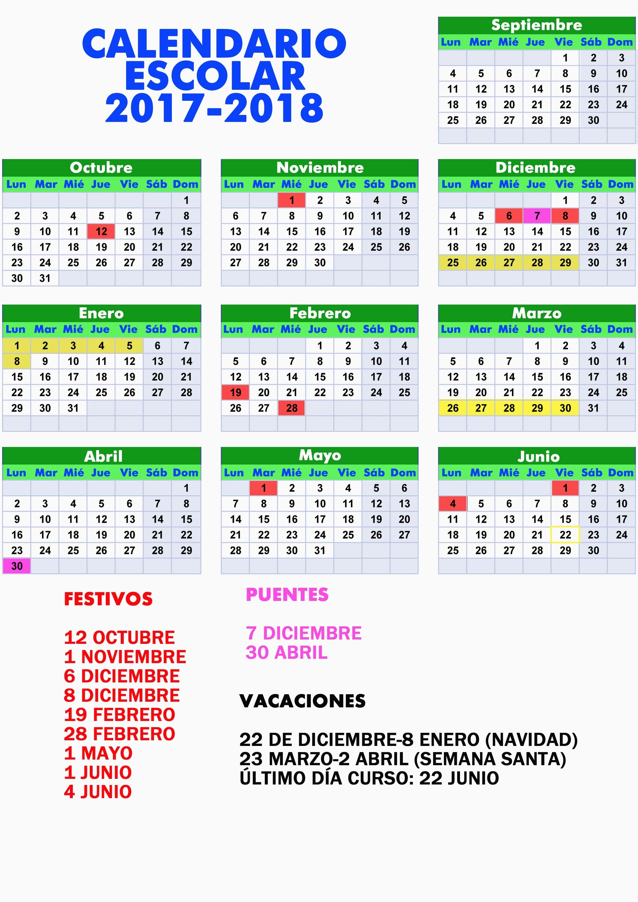 Calendario Uruguay A±o 2018