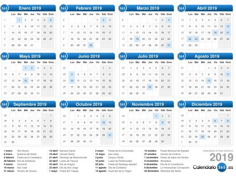 Calendario Oficial 2019 Argentina Para Imprimir Más Arriba-a-fecha Calendario 2019