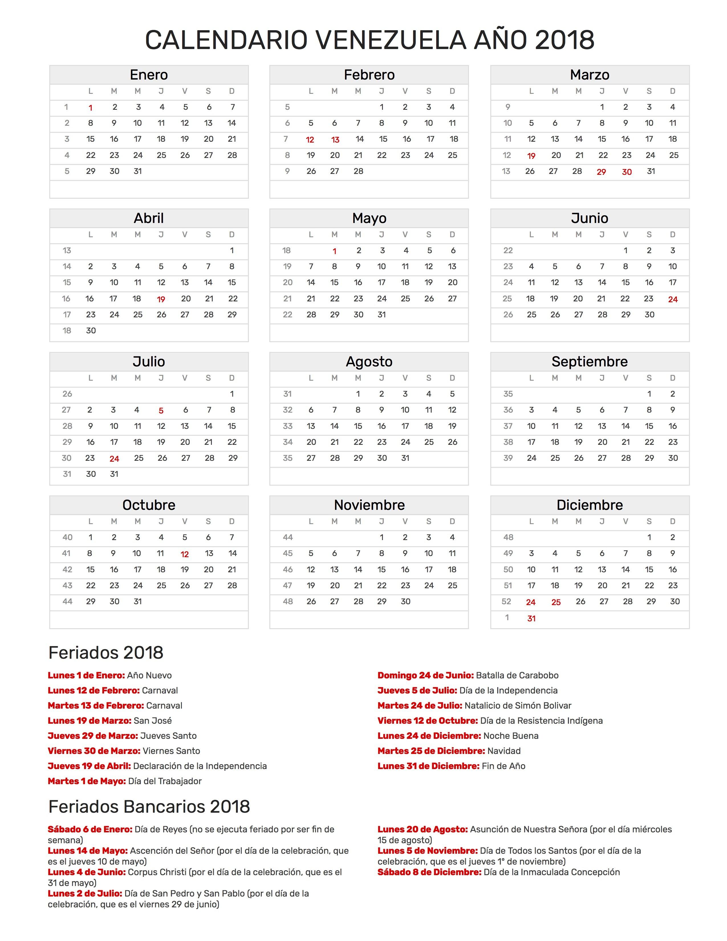 Calendario Para Imprimir 2017 Venezuela Más Caliente Calendario Venezuela A±o 2018 Of Calendario Para Imprimir 2017 Venezuela Mejores Y Más Novedosos Sunavi
