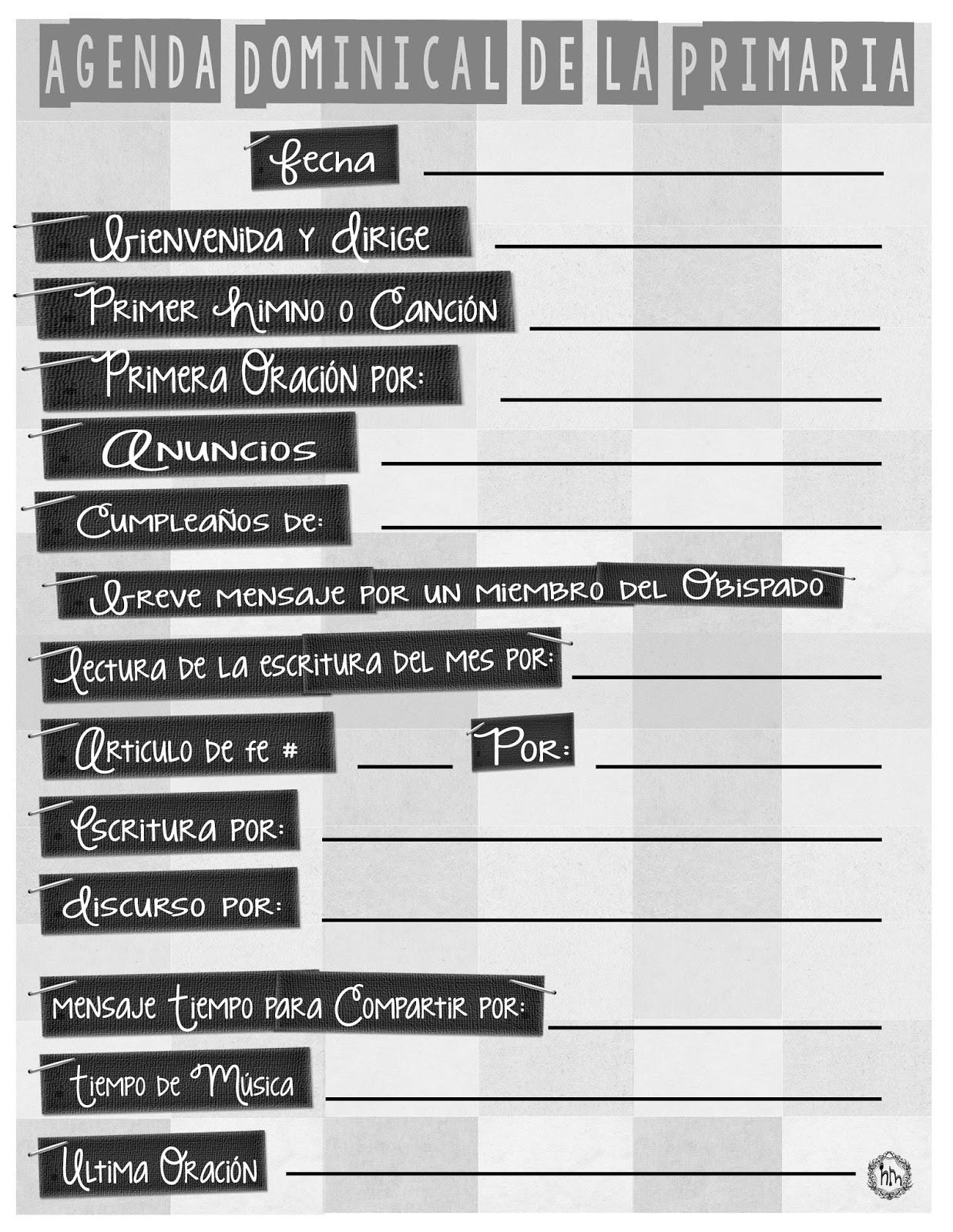 Calendario Para Imprimir 2019 Blanco Y Negro Recientes Holamormon3 Primaria Lds Sud 2018