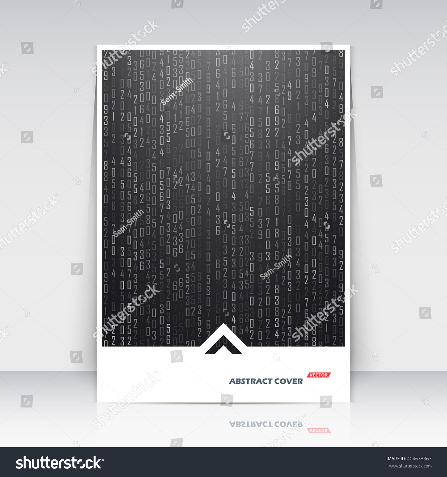 Abstract position math technology black a4 brochure title sheet scientific digital banner icon