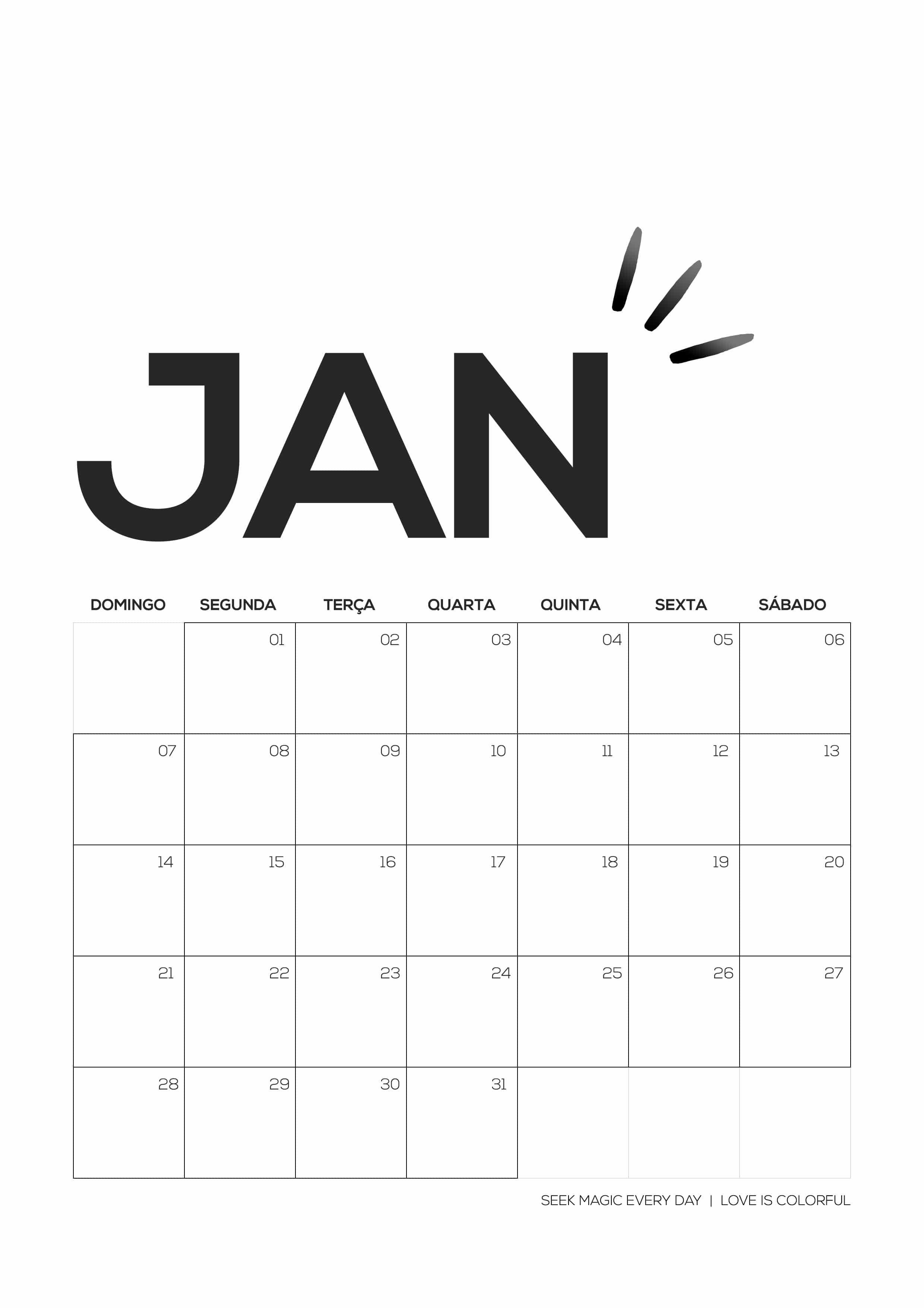 Calendario Para Imprimir 2019 Janeiro Más Reciente Calendário 2018 Para Imprimir — Love is Colorful Of Calendario Para Imprimir 2019 Janeiro Más Recientemente Liberado Root