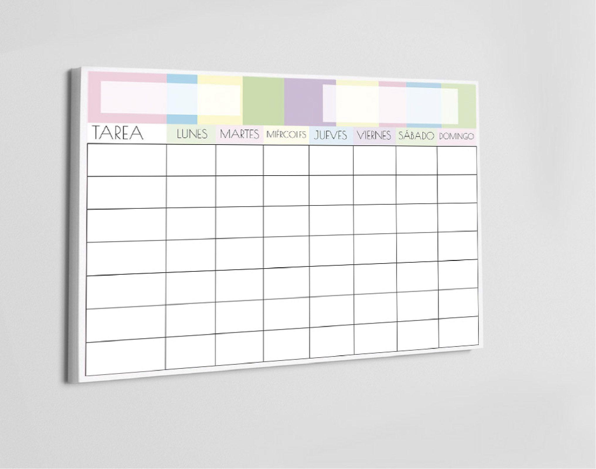 Descarga este planificador de tareas para ni±os Aprenderán a organizarse solitos los deberes agenda planning organizaci³n ni±os