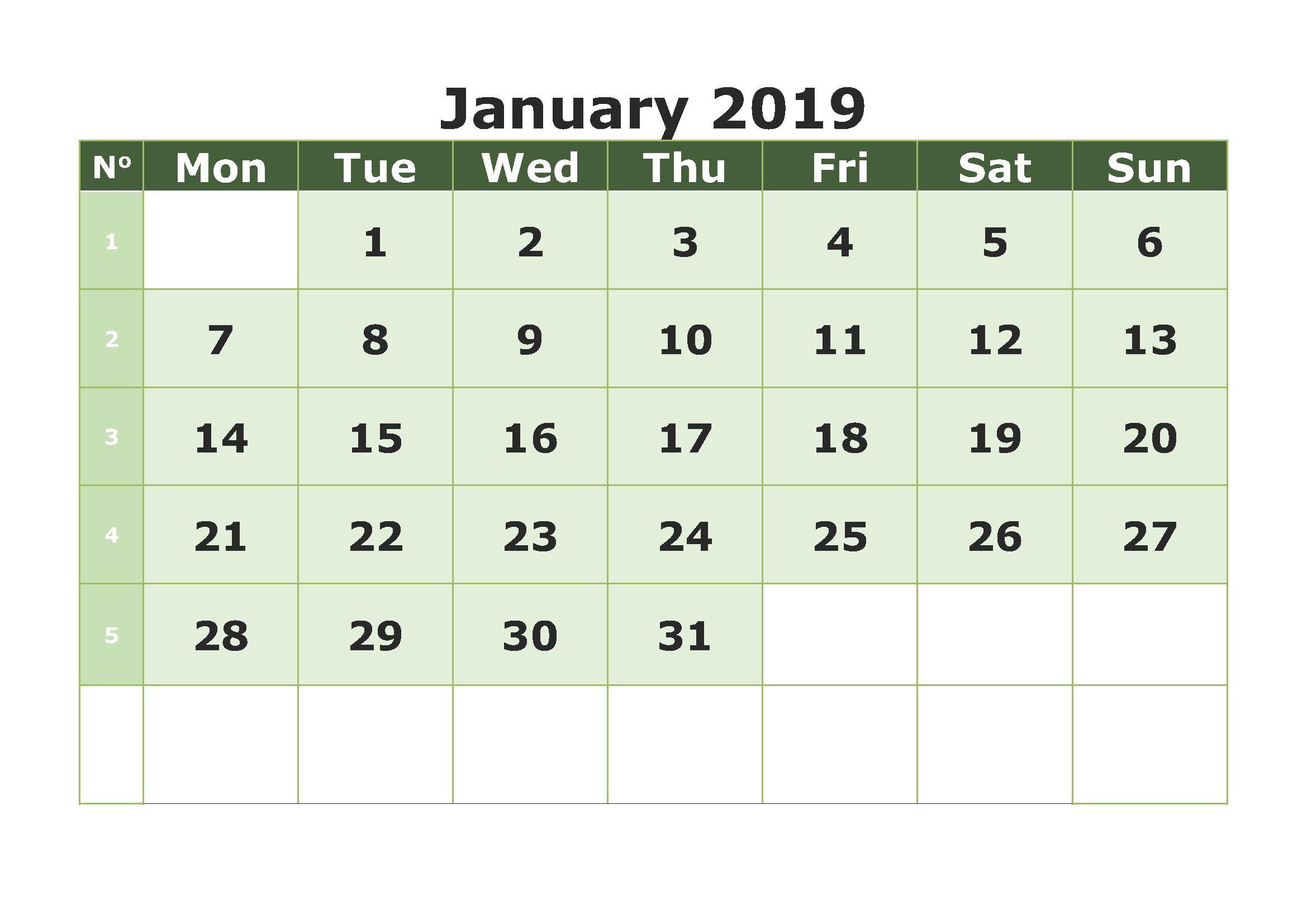 Calendario Para Imprimir Word 2019 Más Recientemente Liberado Free Printable January 2019 Calendar Pdf Excel Wordjanuary Of Calendario Para Imprimir Word 2019 Más Populares Image Result for Free Printable 2018 2019 Calendar