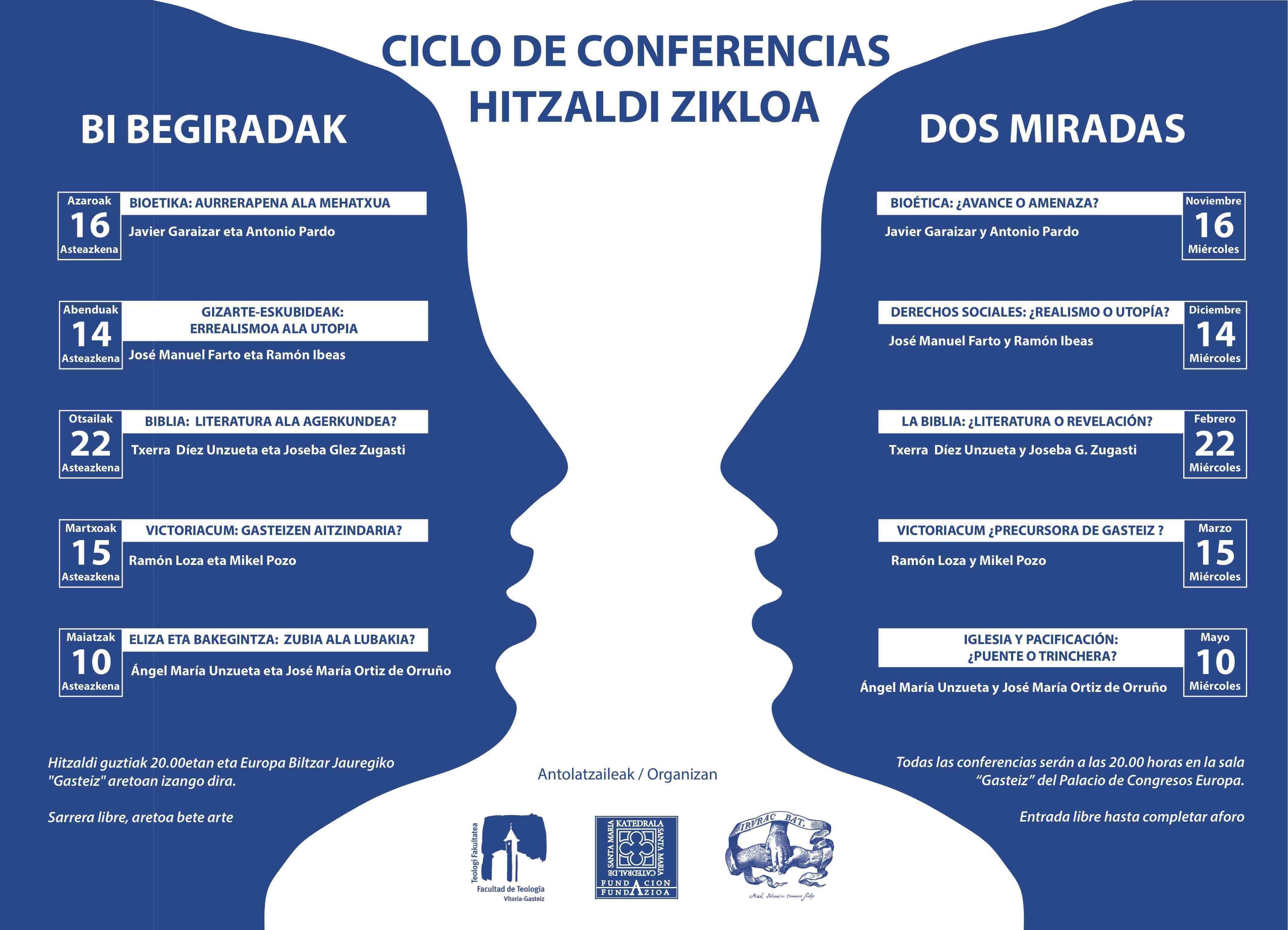 """Calendario Septiembre Octubre 2019 Para Imprimir Recientes Ciclo De Conferencias """"dos Miradas"""" """"bi Begiradak"""" Facultad De"""