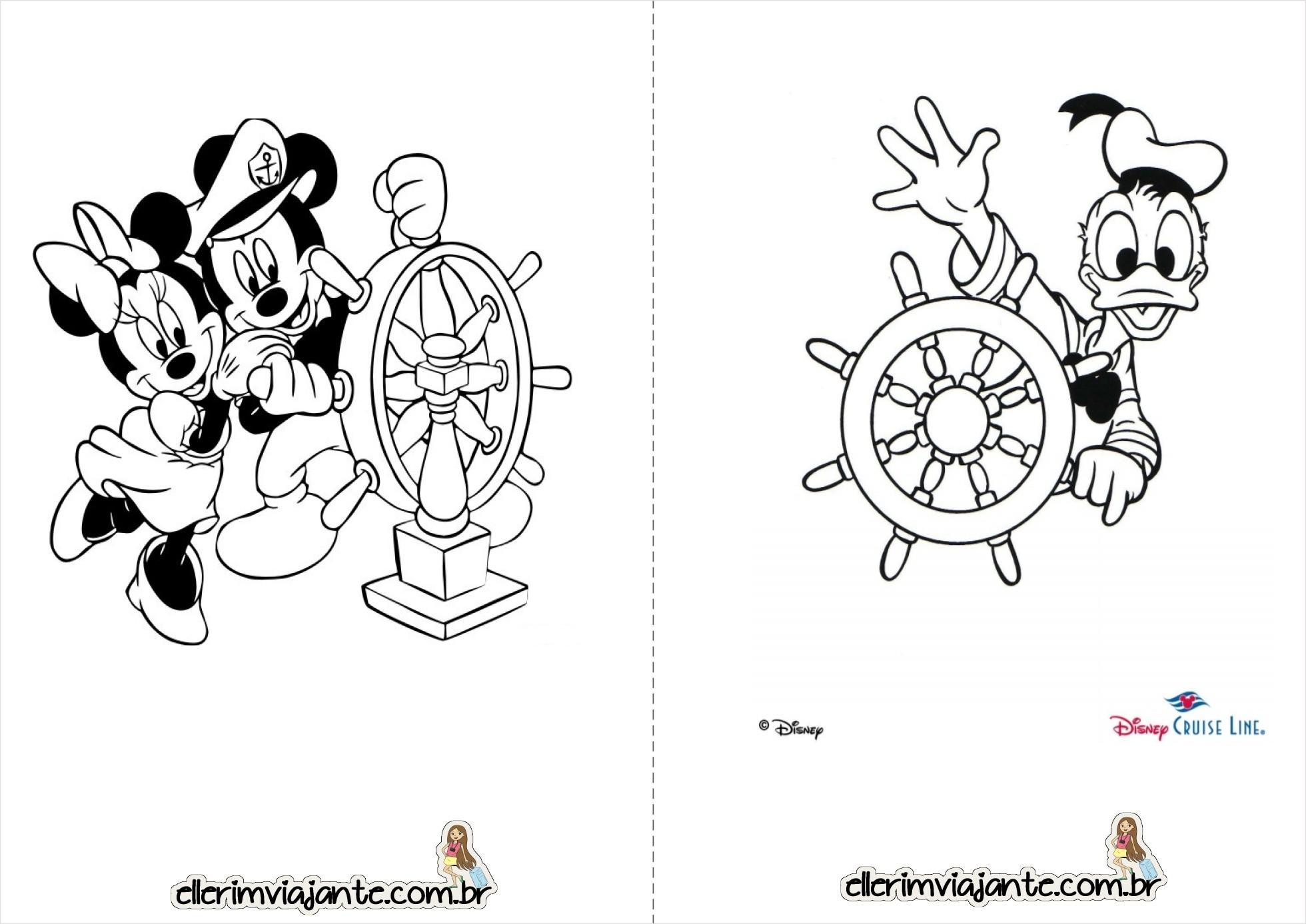 Livrinho para Colorir Disney Cruise