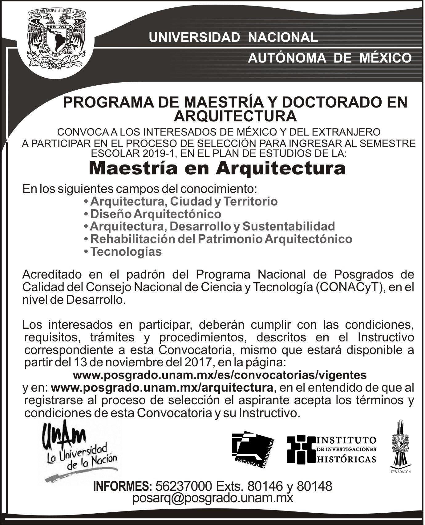 """F Arquitectura UNAM on Twitter """"Convocatorias para participar en"""