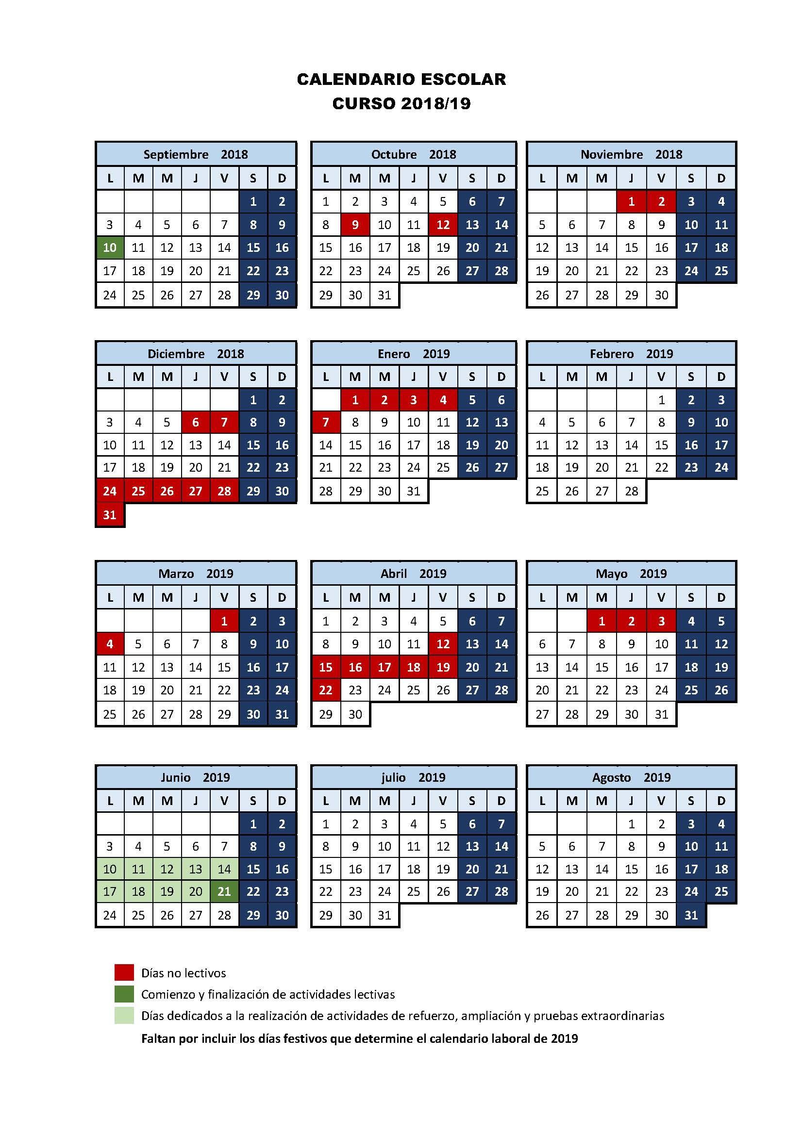 Calendario Wscolar 2019 Más Reciente Calendario Escolar Of Calendario Wscolar 2019 Más Recientes Calendario Académico 2018 2019 Consmucan