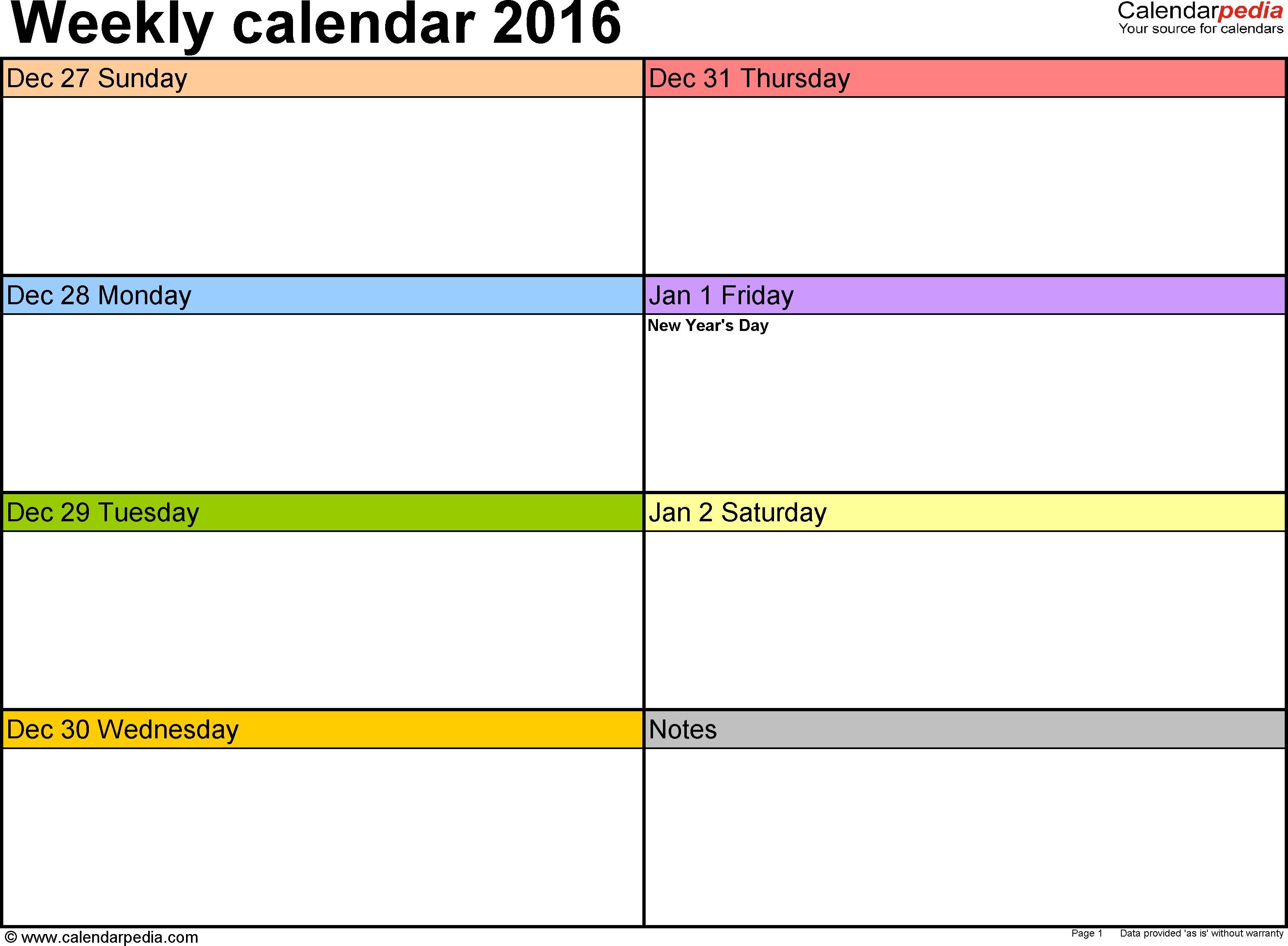 weekly calendar oyle kalakaari co