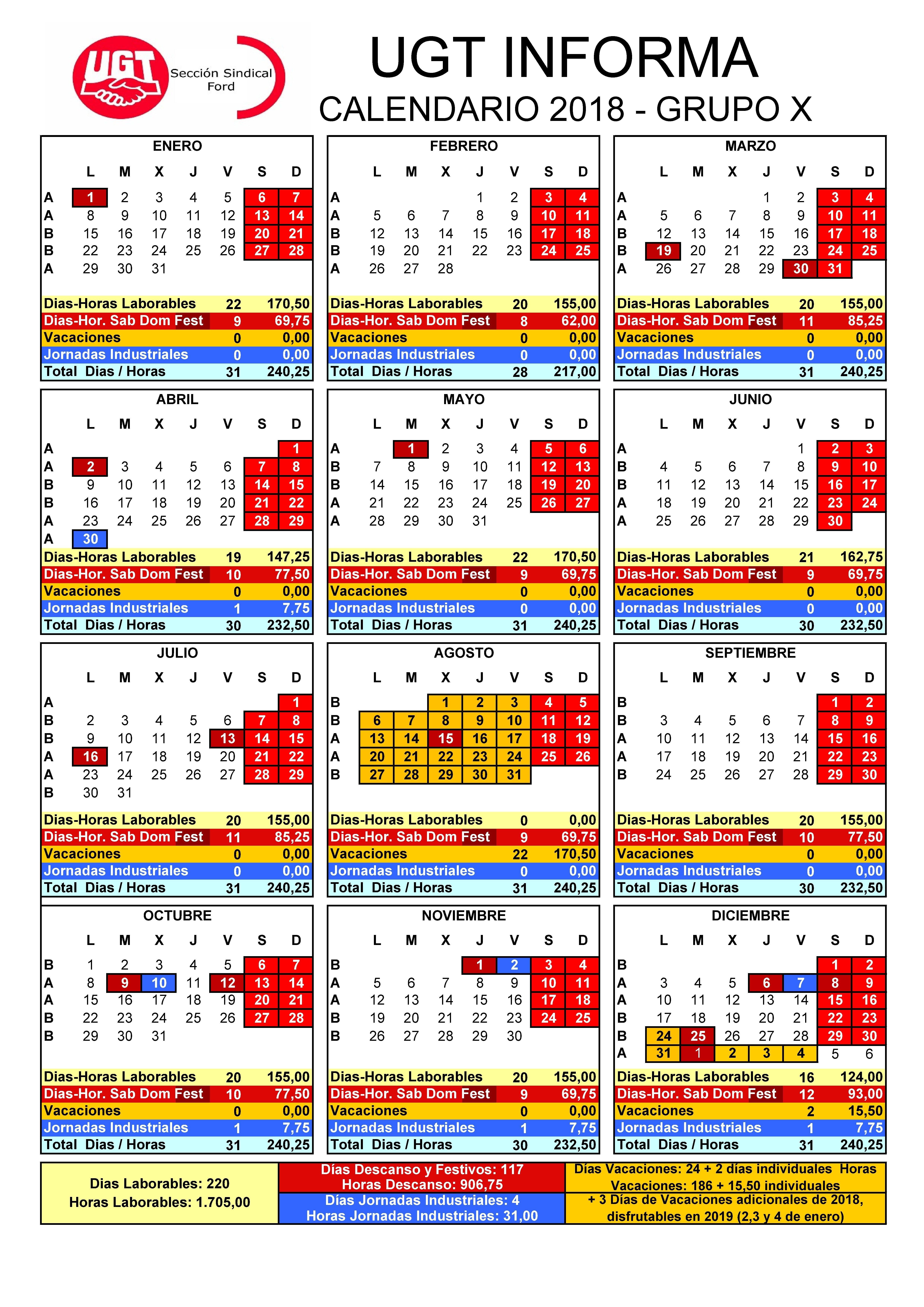 Formato De Calendario 2017 Para Imprimir Mejores Y Más Novedosos Ugt Fica Pas Valenci Calendario Laboral 2018 Of Formato De Calendario 2017 Para Imprimir Actual Calendario 2017 2018 Para Imprimir