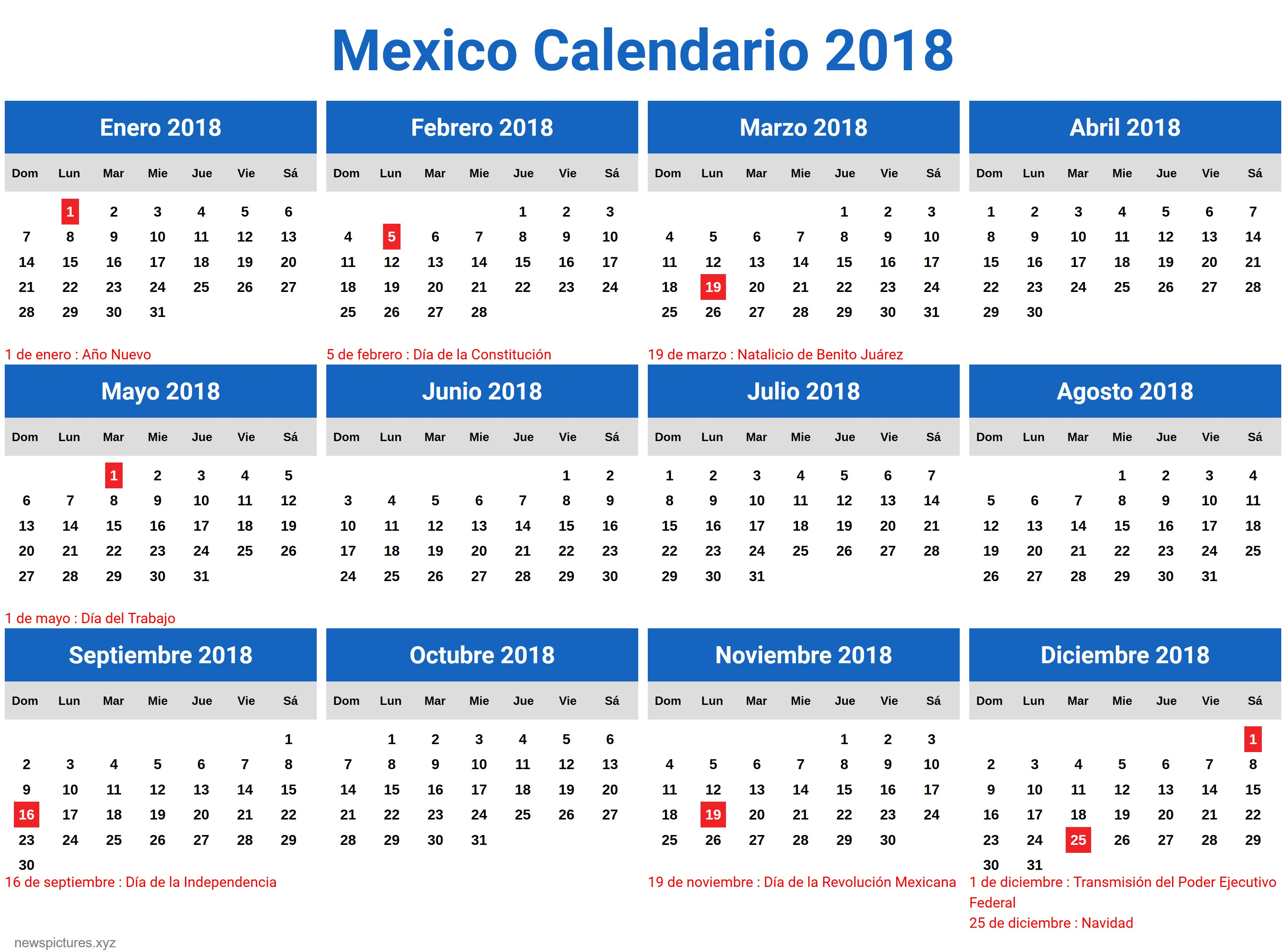 Cree un calendario 2016 en Excel incluye plantilla gratis