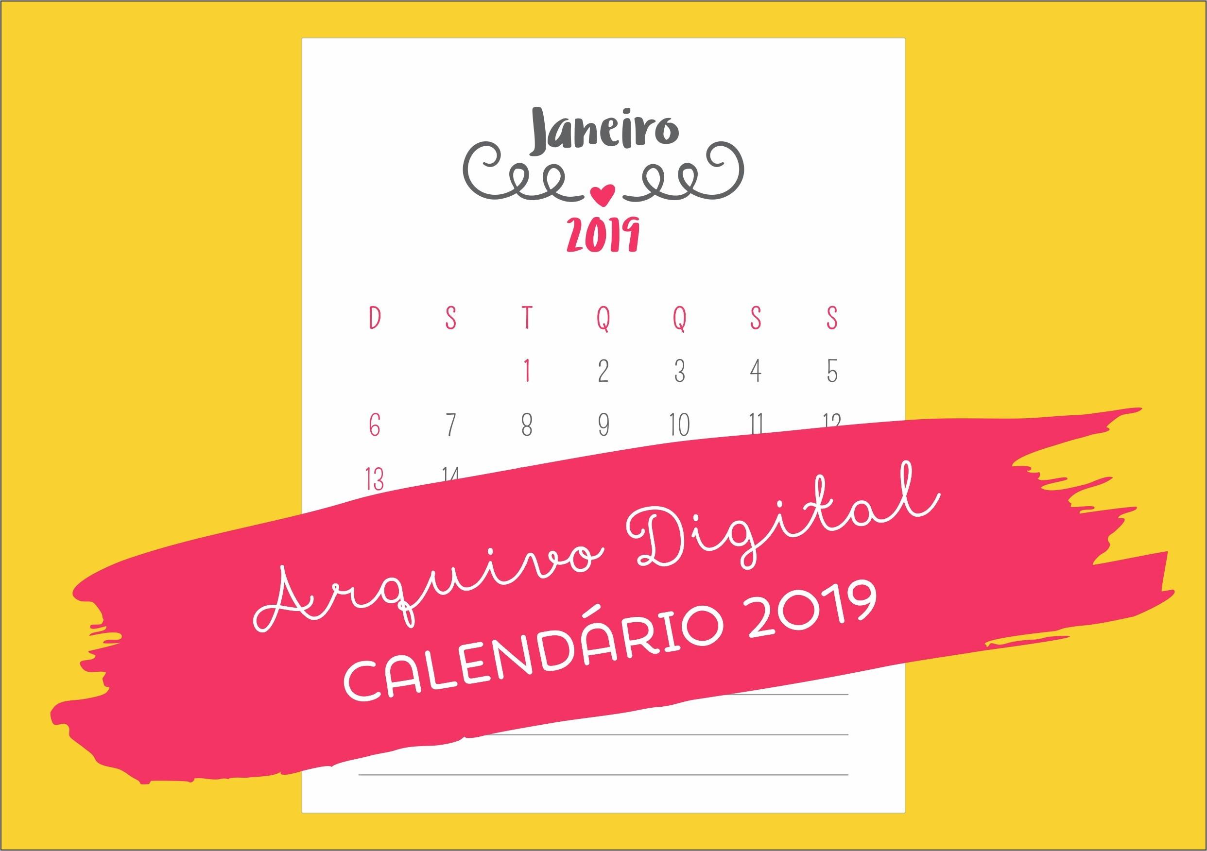 arquivo digital calendario 2019