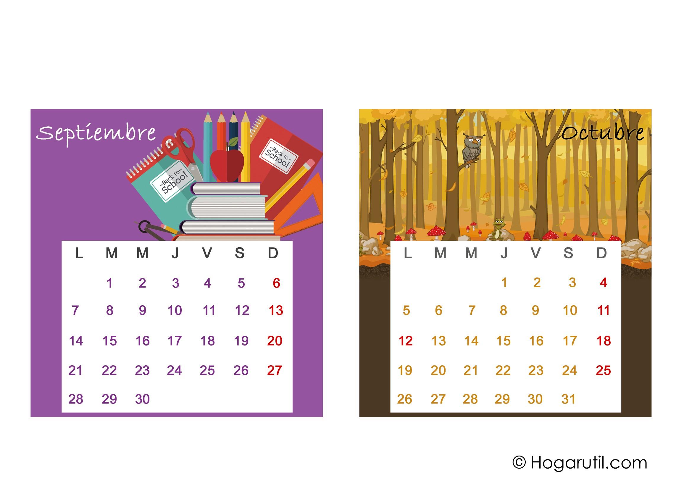pinchar aqu para imprimir estos meses del calendario