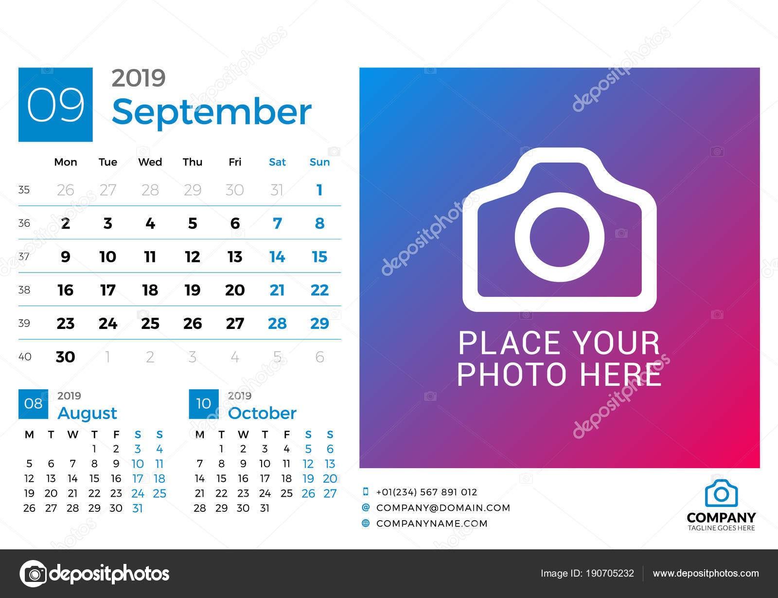 Imprimir Calendario 2019 De Bolsillo Mejores Y Más Novedosos Calendario De Septiembre De 2019 Vector Dise±o Imprimir La Of Imprimir Calendario 2019 De Bolsillo Actual C³mo Hacer Un Calendario 2018 En Excel