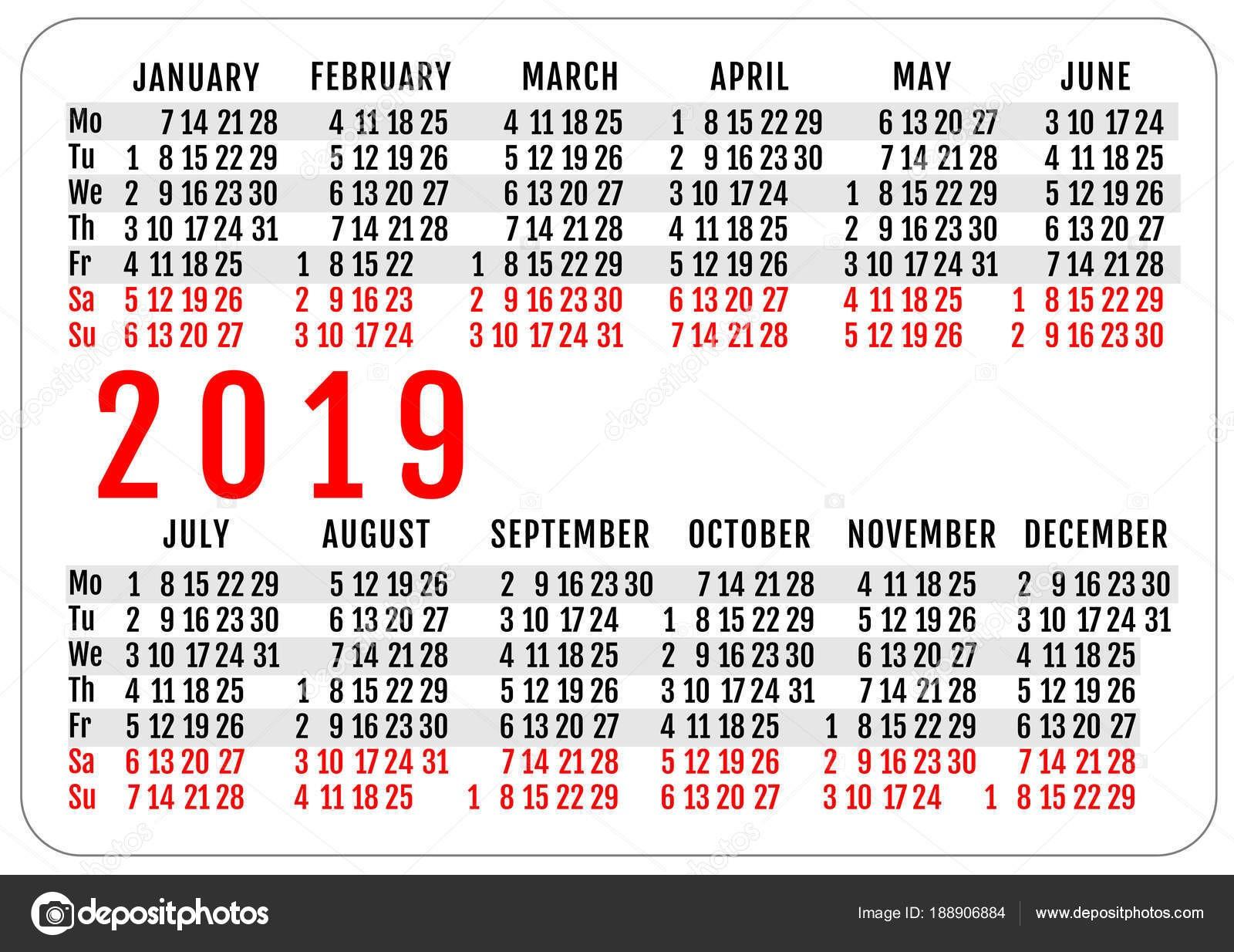 Imprimir Calendario 2019 De Bolsillo Recientes Maqueta De Plantilla De Cuadrcula De 2019 Bolsillo Horizontal Of Imprimir Calendario 2019 De Bolsillo Actual C³mo Hacer Un Calendario 2018 En Excel