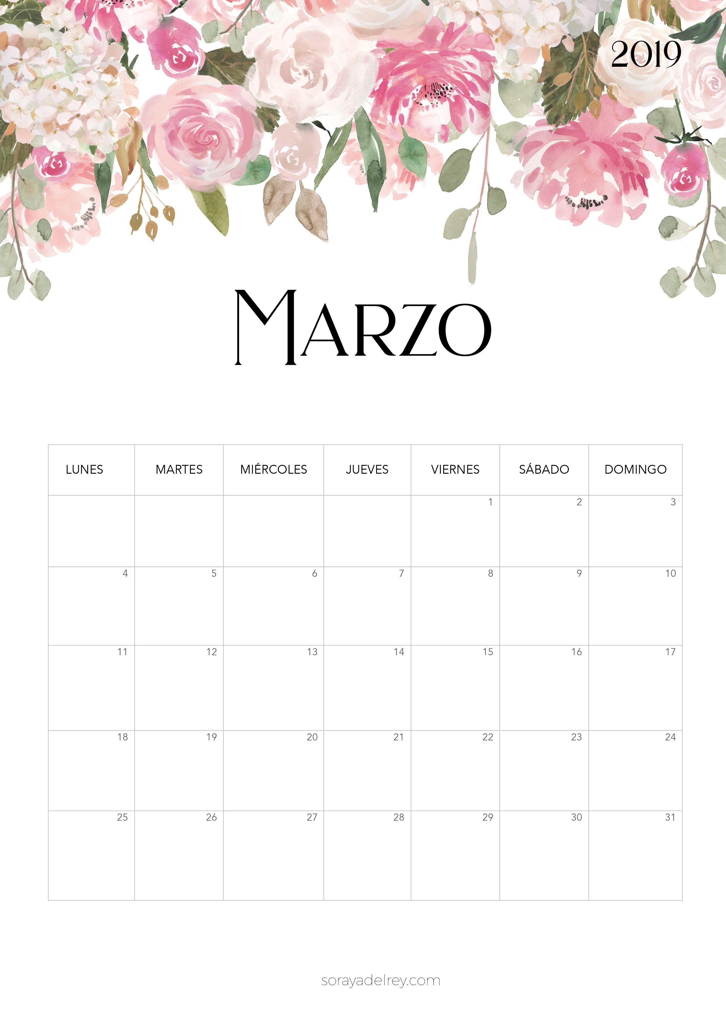 Calendario para imprimir 2018 2019 costurero