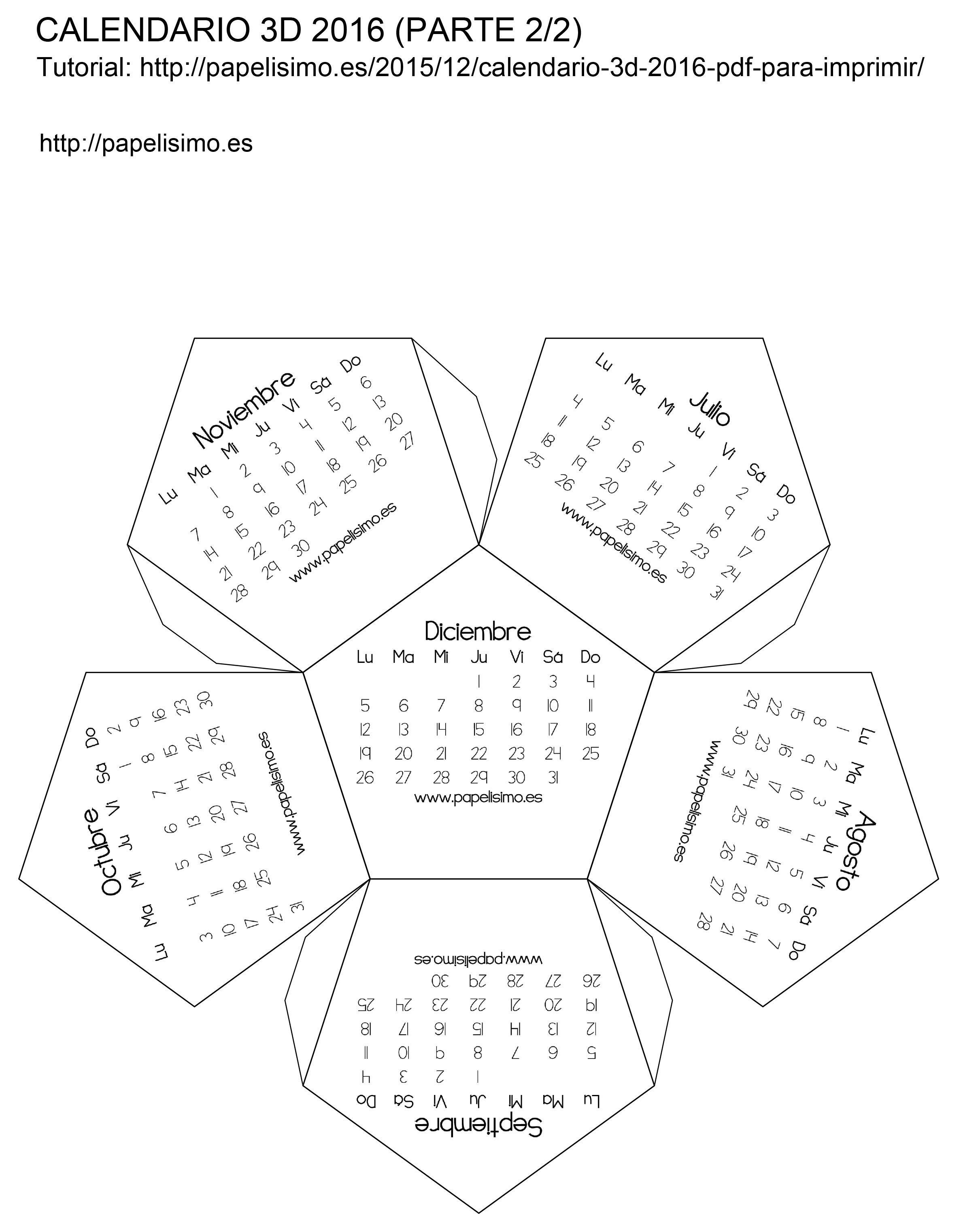 12 calendarios de descarga gratis calendarios 2016 para imprimir