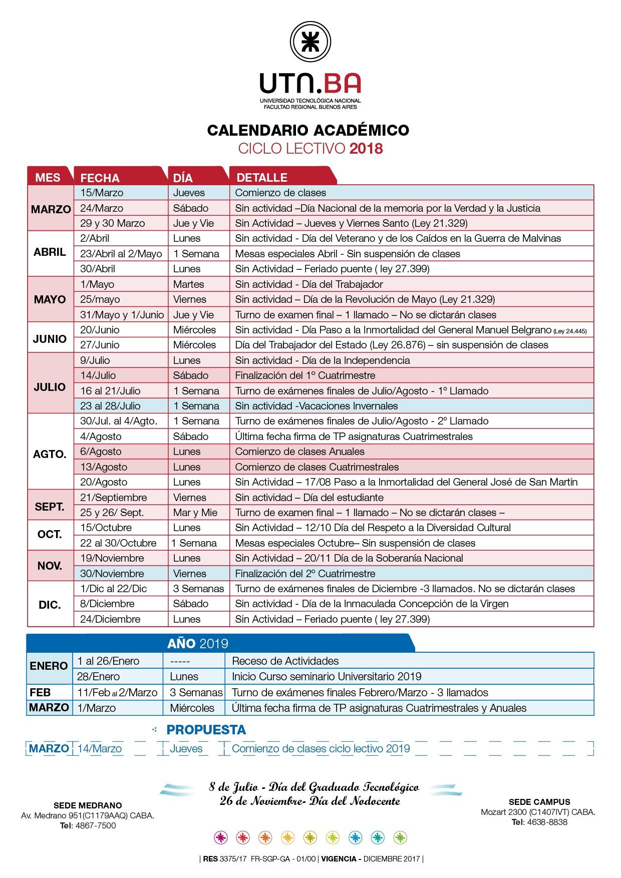 Inicio Calendario Escolar 2019 Actual Calendario Académico Utn Ba Of Inicio Calendario Escolar 2019 Mejores Y Más Novedosos El Centro Alojaweb