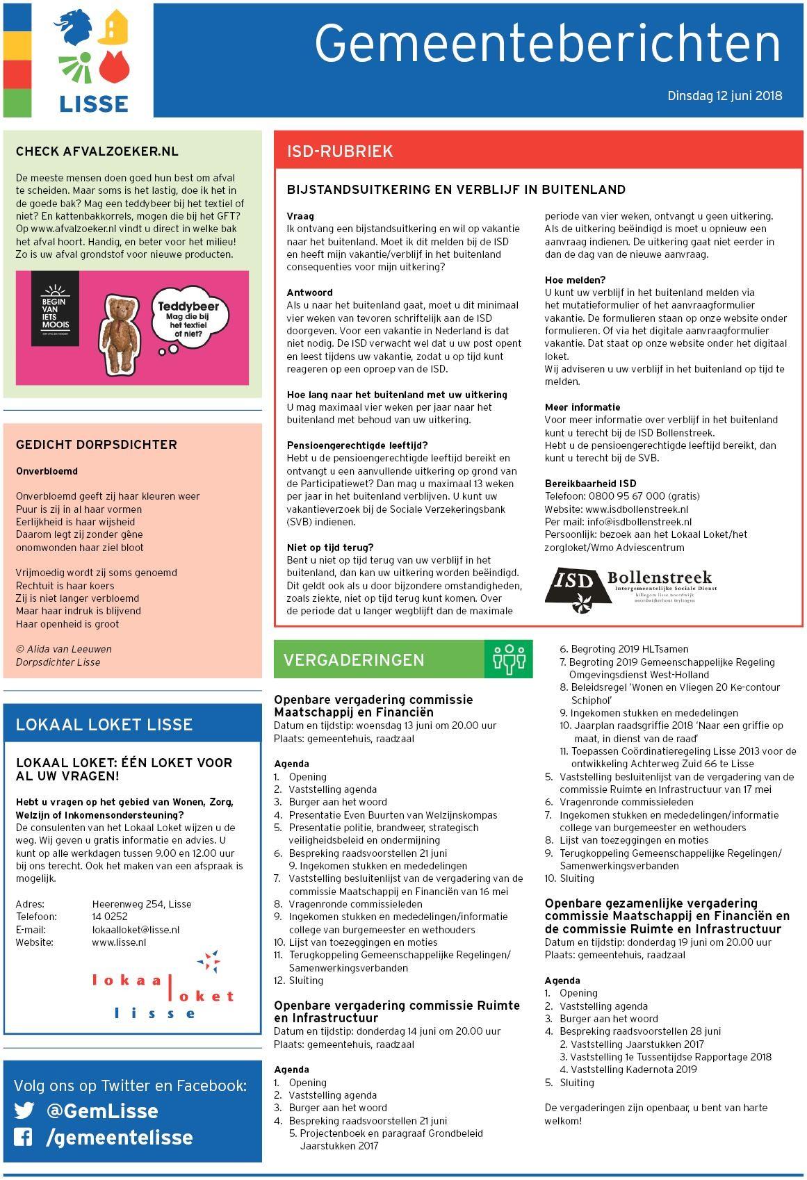 Kalender 2019 Excel Met Feestdagen Más Populares Lissernieuws De Hillegommer 12 Juni 2018 Of Kalender 2019 Excel Met Feestdagen Más Recientemente Liberado Winter In Oslo norway