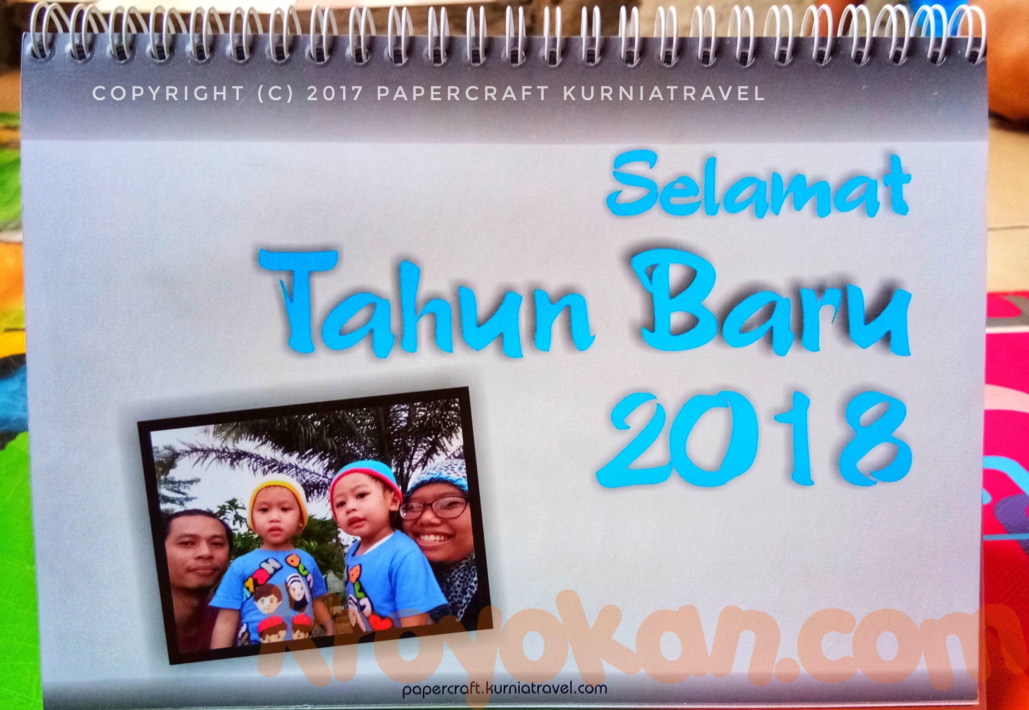 Kalender Meja Tahun 2018 Custom Foto