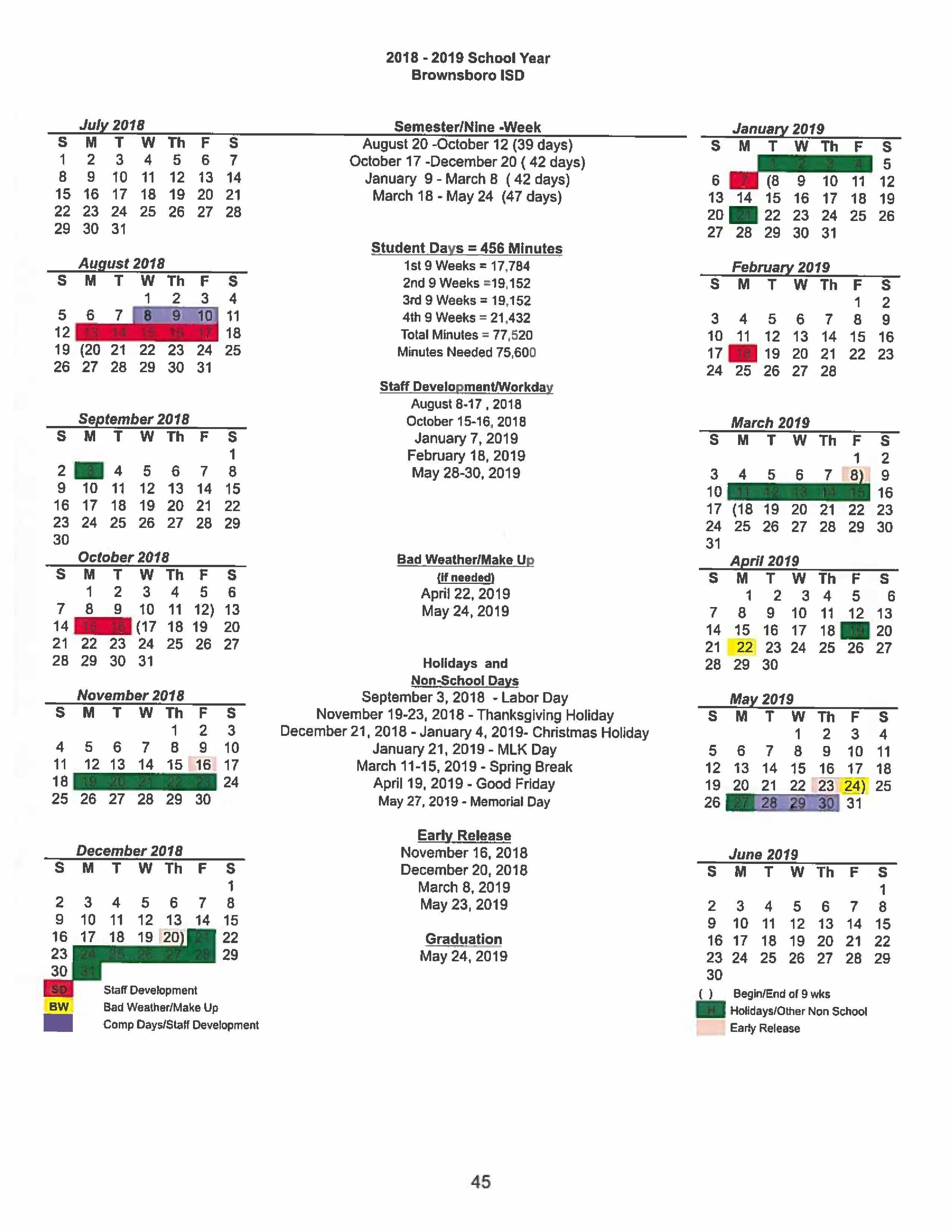 Kalender 2019 Pdf Bw Más Recientes Bisd Academic Calendar 2018 2019 – About Bjh – Brownsboro Junior Of Kalender 2019 Pdf Bw Más Recientes Student Calendar Stanwood Camano School District