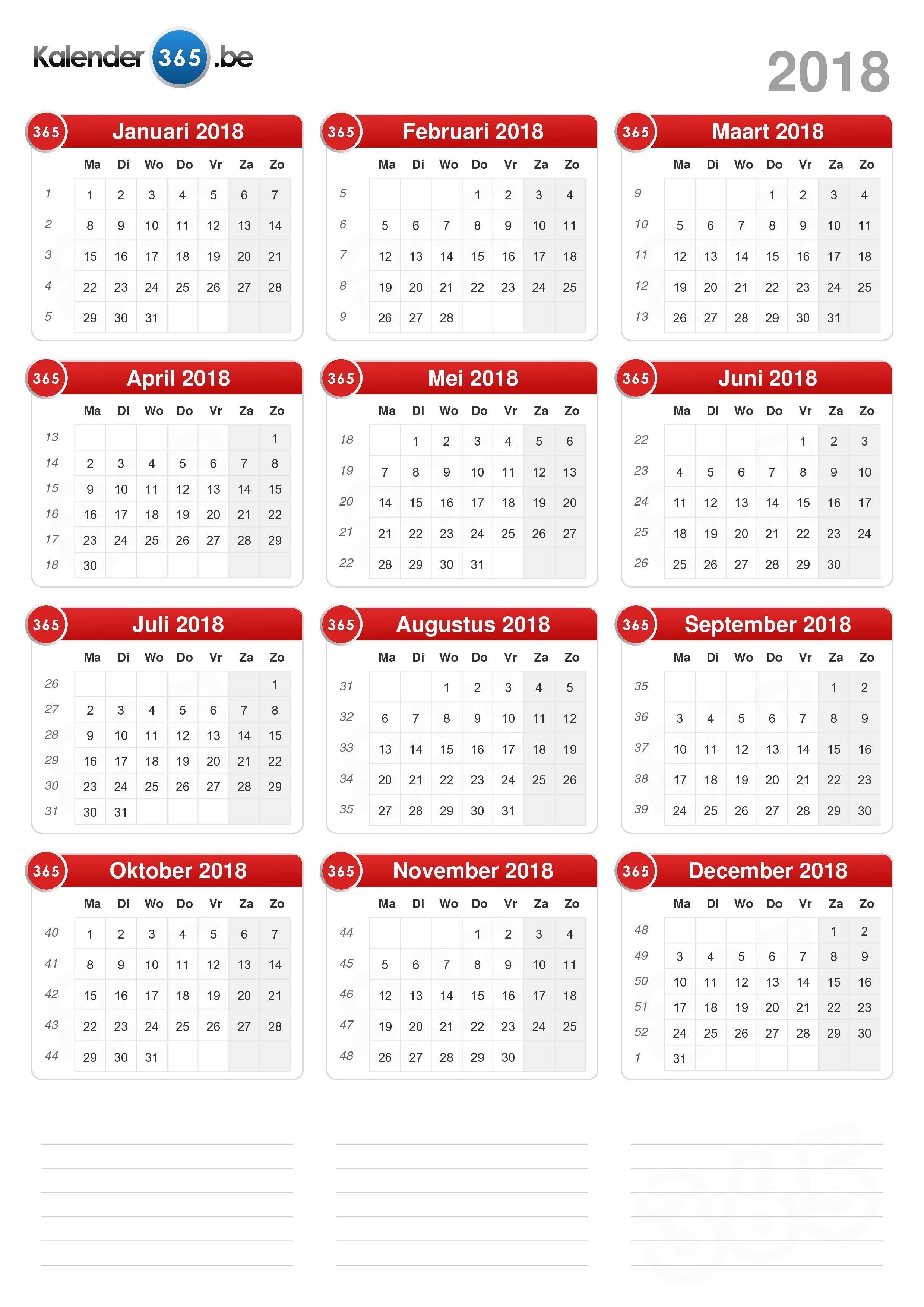 Kalender 2018 staand formaat v2