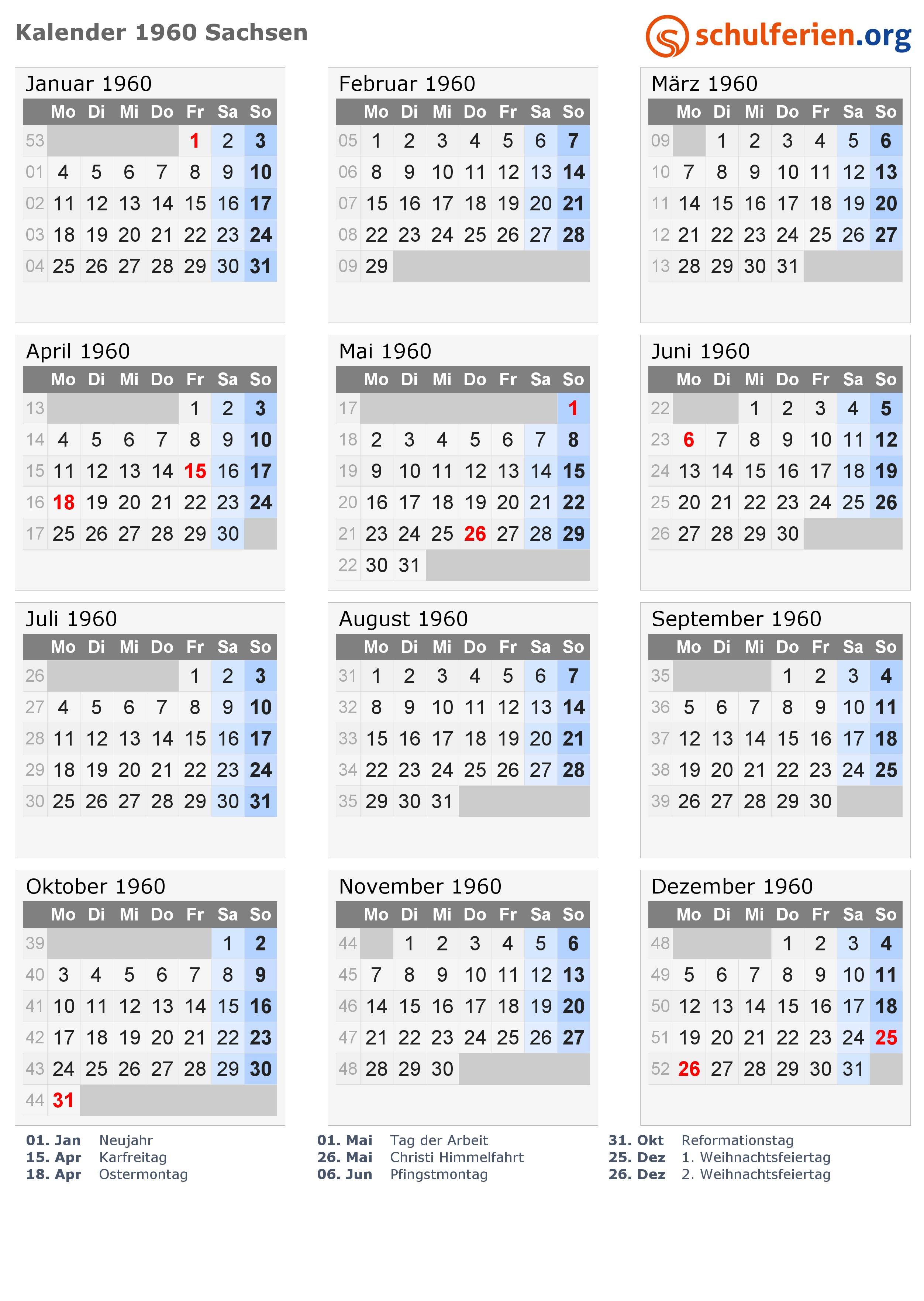 Kalender 2019 Pdf Sachsen Más Reciente Kalender 1960 Ferien Sachsen Feiertage