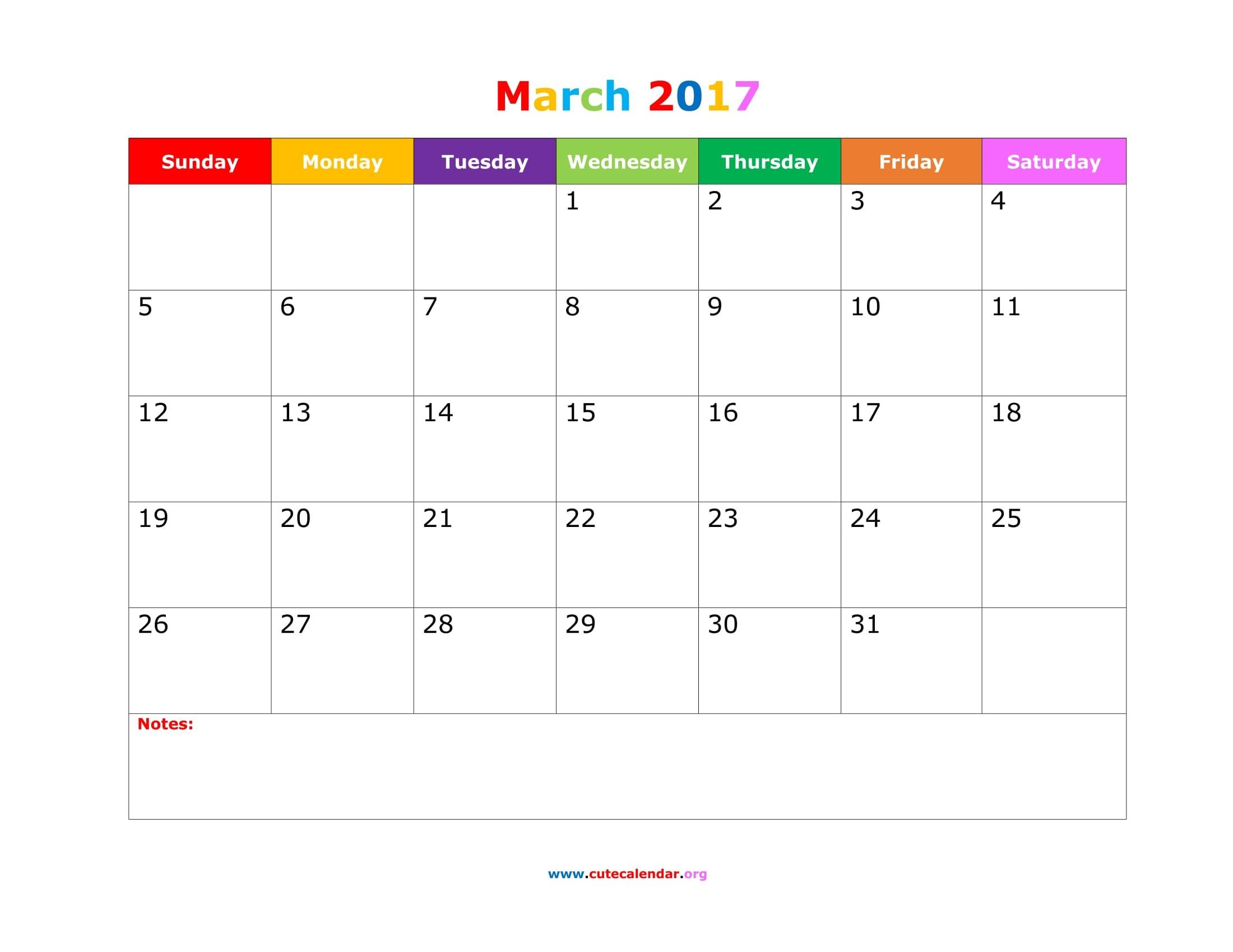 Cute Calendar Template March 2018 Calendar Printable Pdf Word Excel Document Portrait