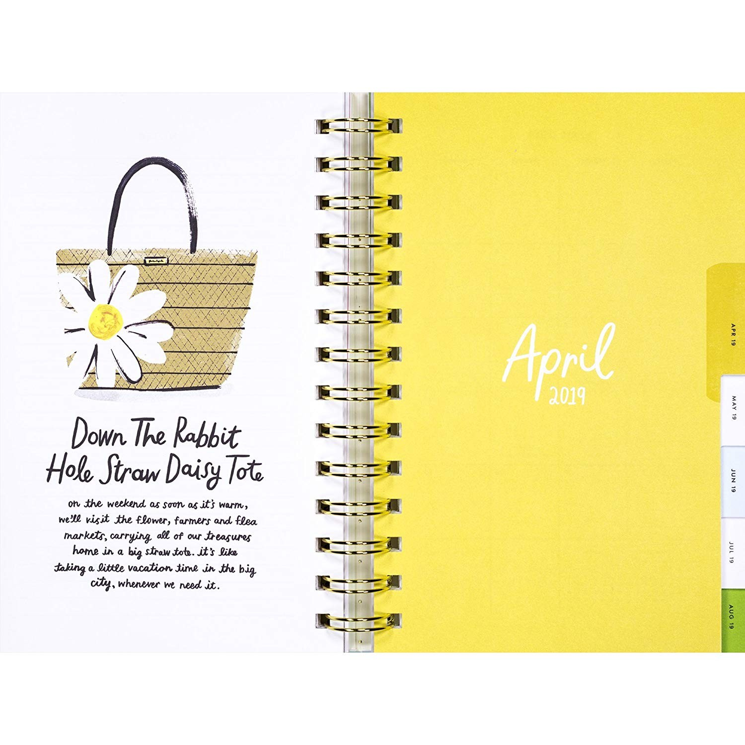 Amazon Kate Spade Academic Daily Planner 2018 2019 with Daily Weekly Monthly Views and Happy Stickers Illustrative fice Products