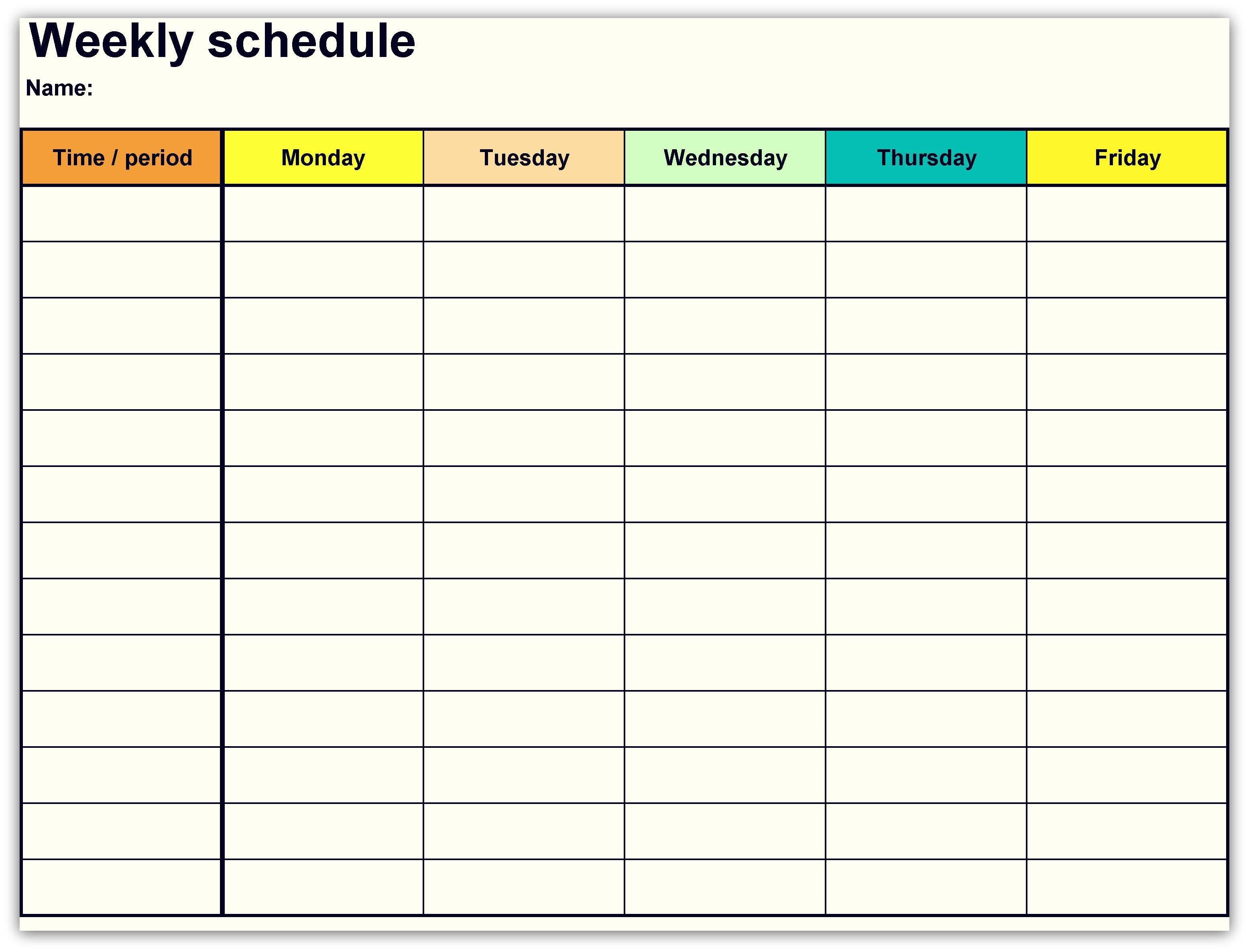 2018 Weekly Planner Calendar