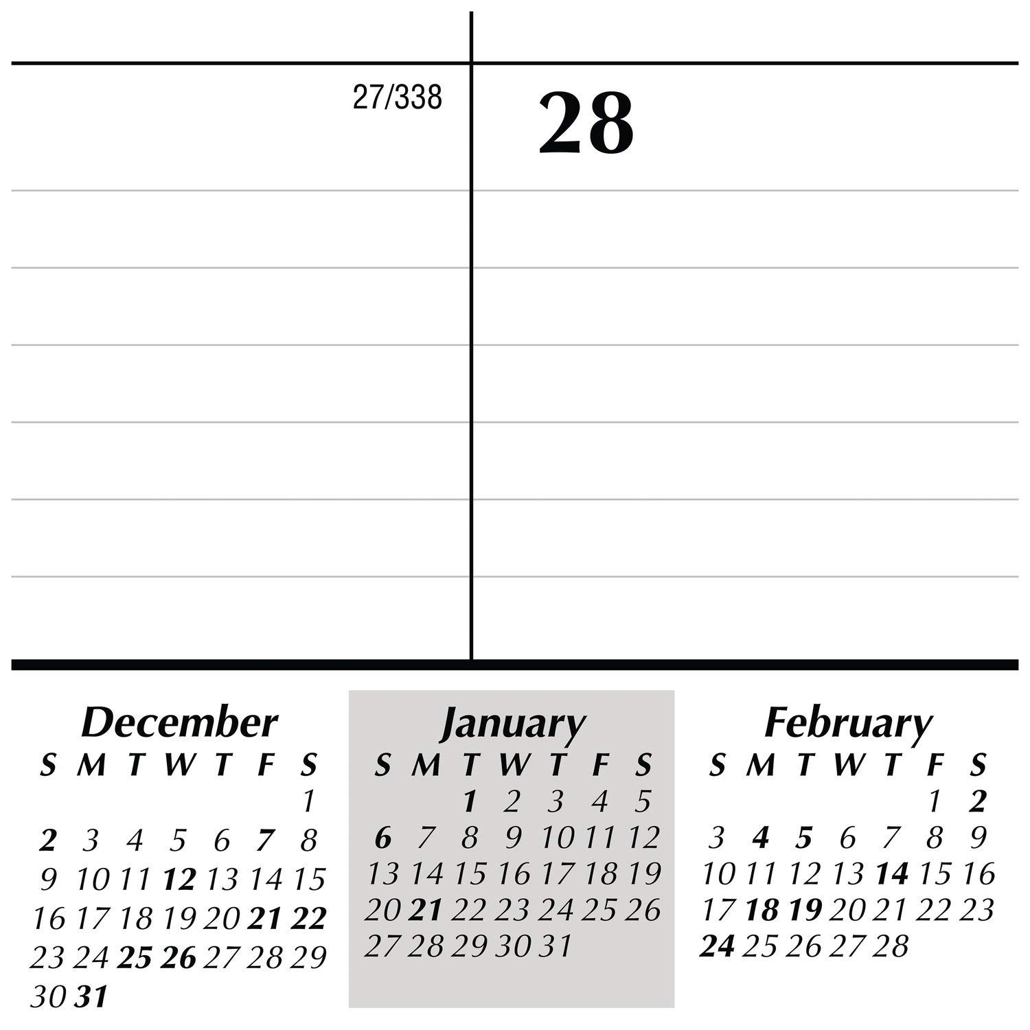 "Amazon AT A GLANCE 2019 Desk Calendar Refill Desk Pad Refill 21 3 4"" x 17"" Standard Black White SK2250 fice Products"