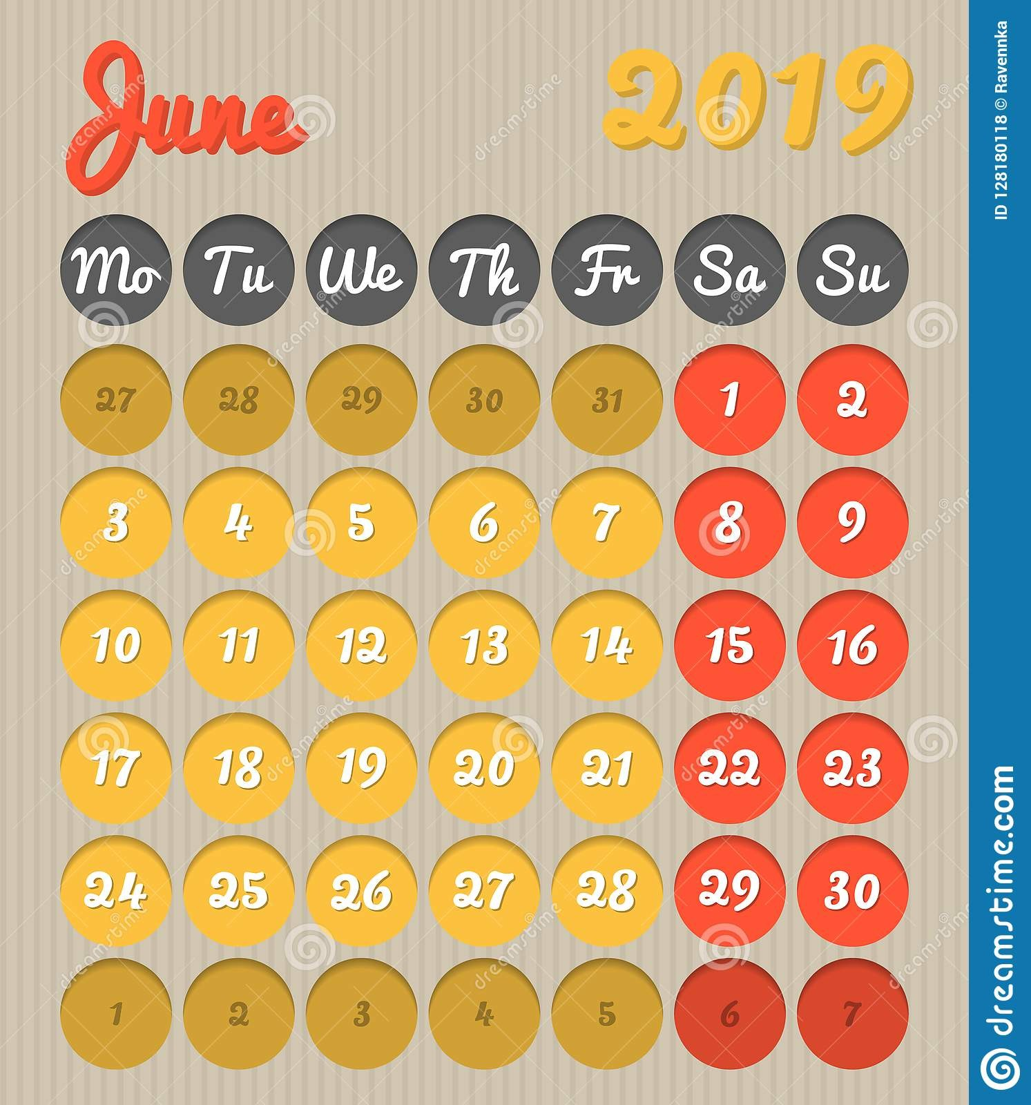 Calendar 2019 Vector Free Download Más Recientes Month Planning Calendar June 2019 Cardboard Style Monday to Of Calendar 2019 Vector Free Download Más Caliente Knowing Desk Calendar 2019 Vector Calendar Free Printable