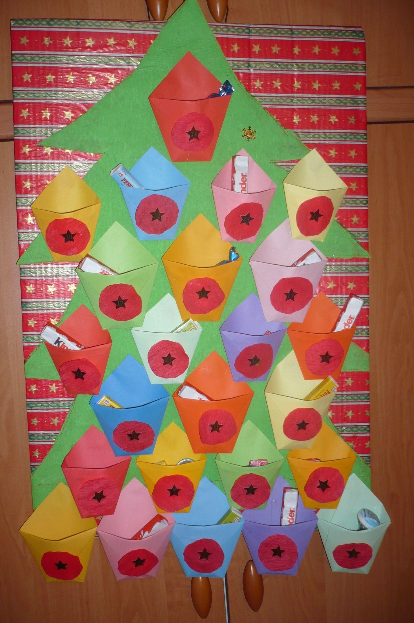 Mnou dělan½ paprov½ adventn kalendář Zima Advent Calendar Favorite Holiday Teeth Illusions
