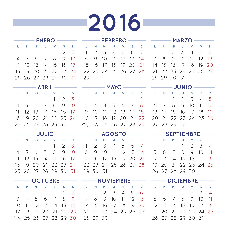 Un aniversario m s y van 8 calendario gratuito de 2016 for Calendario lunar 2016 colombia