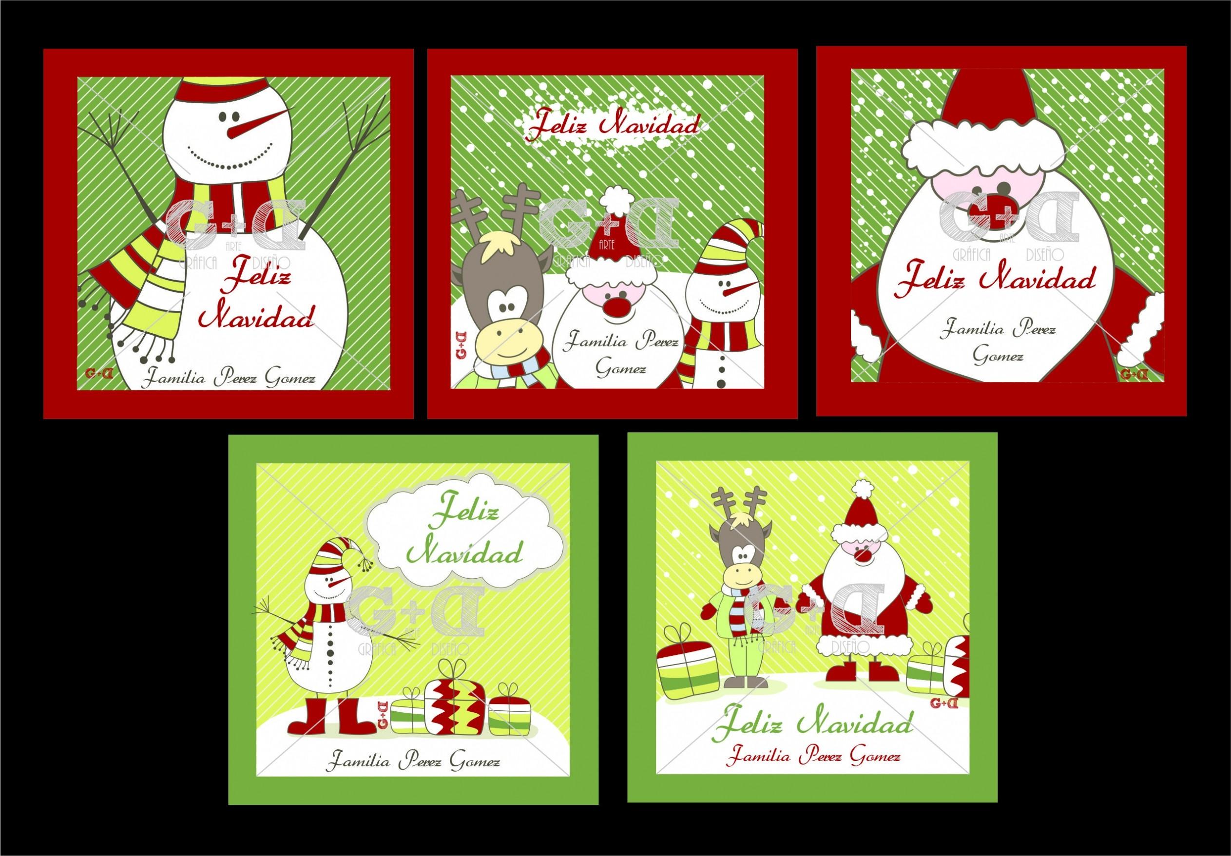 Image de Tarjetas Personalizadas Para La Temporada Decembrina En Papel Glacé – Tarjetas De Navidad