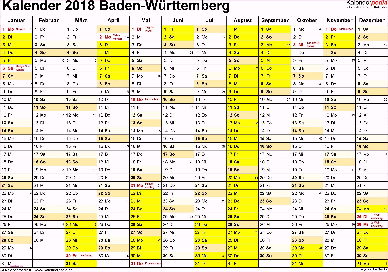 Stundenzettel Excel Vorlage Kostenlos 2017 Kalender 2018 Baden Württemberg Ferien Feiertage Word Vorlagen