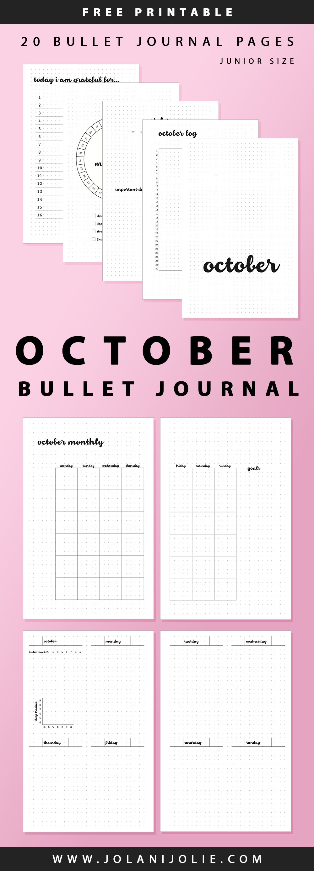 Undated October Bullet Journal – jolanijolie