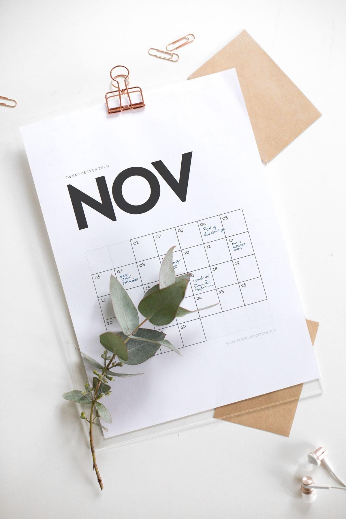 Calendario 2019 Brasilia Más Actual Printable Wall Calendar 2017 Free Download